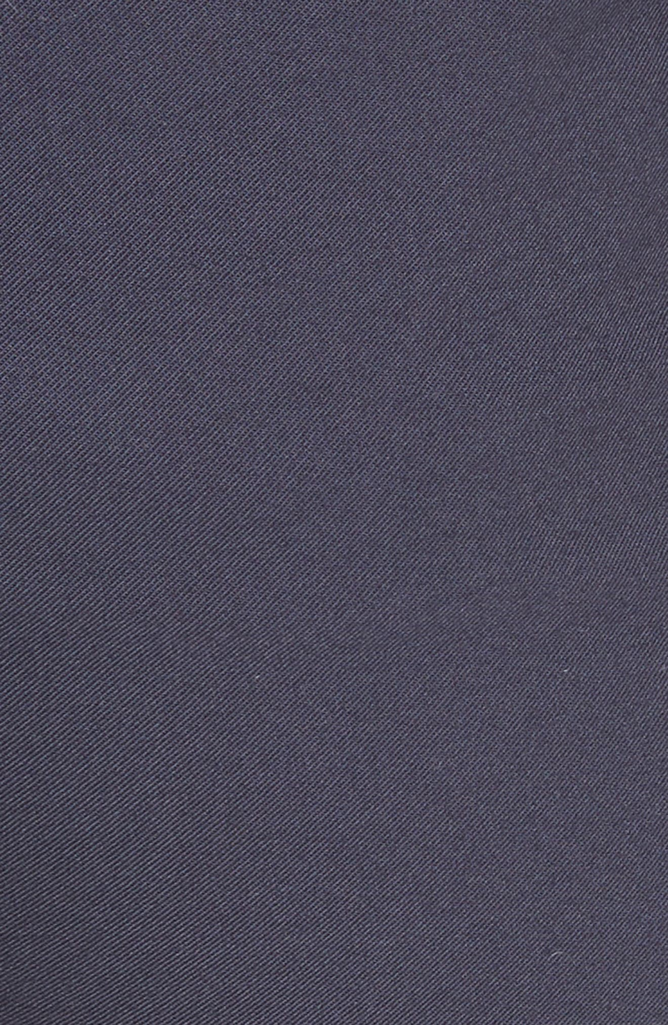Eyelet Trim Stretch Twill Crop Pants,                             Alternate thumbnail 5, color,                             400