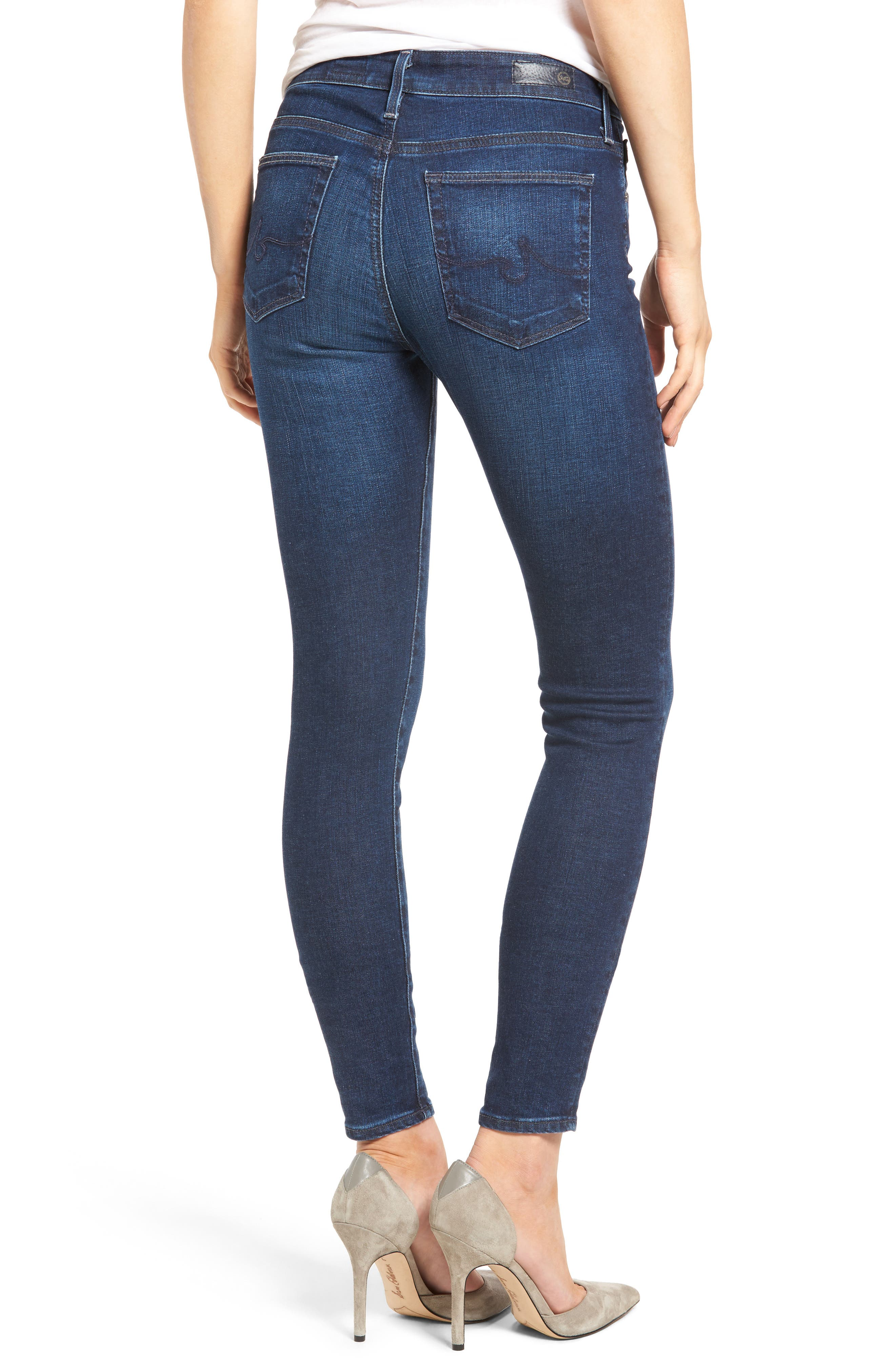 'The Farrah' High Rise Skinny Jeans,                             Alternate thumbnail 19, color,