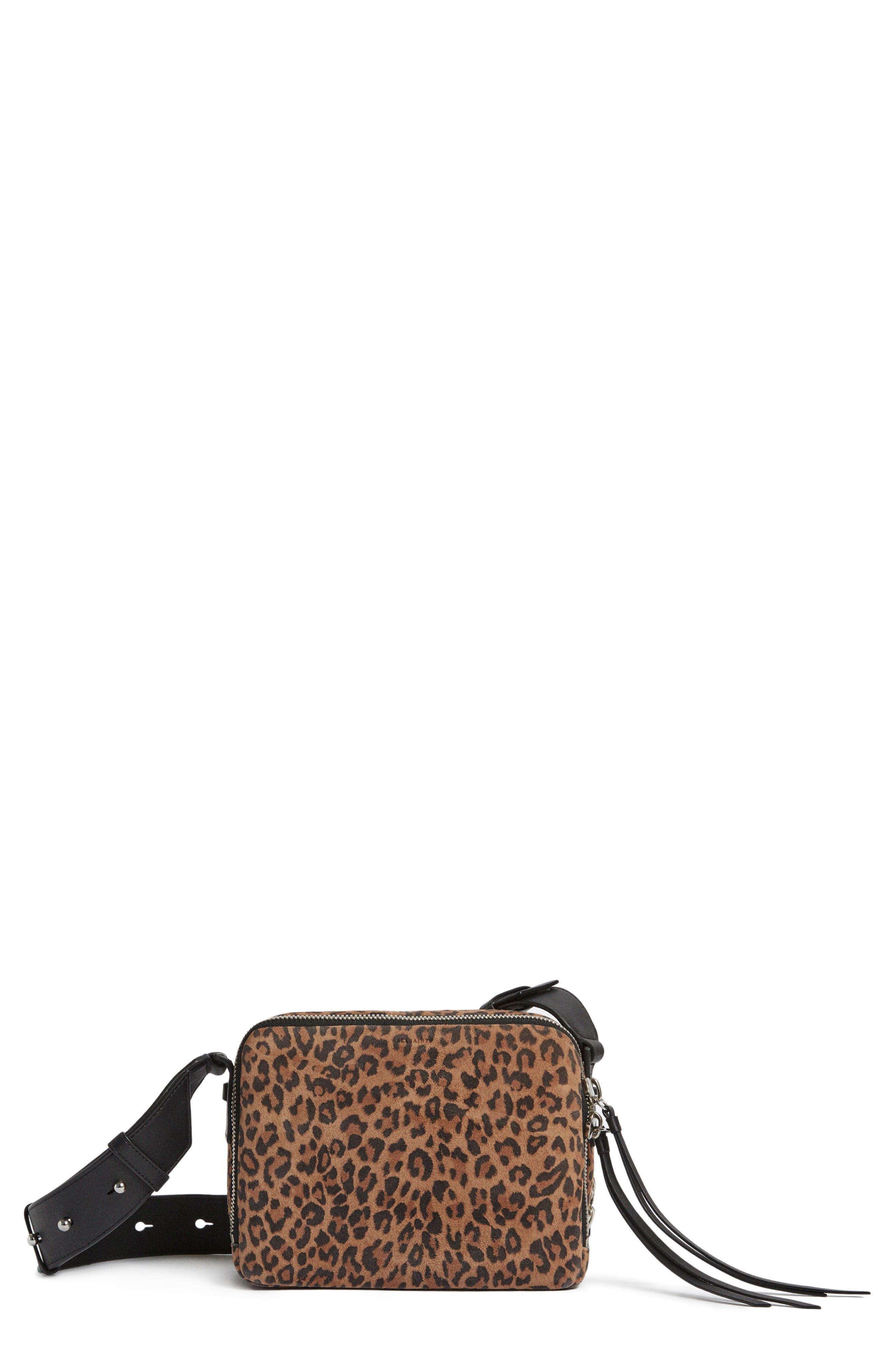 Vincent Leather Crossbody Bag,                         Main,                         color, LEOPARD/ BLACK