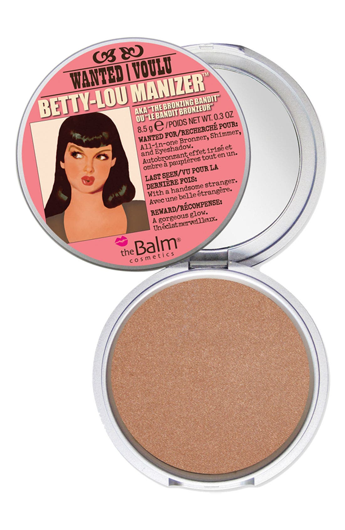 THEBALM<SUP>®</SUP>,                             'Betty-Lou Manizer<sup>®</sup>' Bronzing Highlighter,                             Main thumbnail 1, color,                             200
