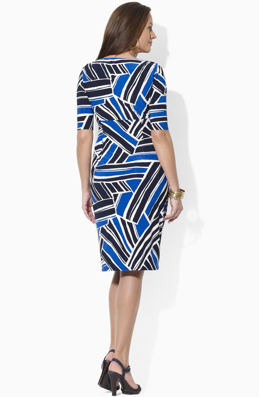 Print Jersey Sheath Dress,                             Alternate thumbnail 2, color,                             450