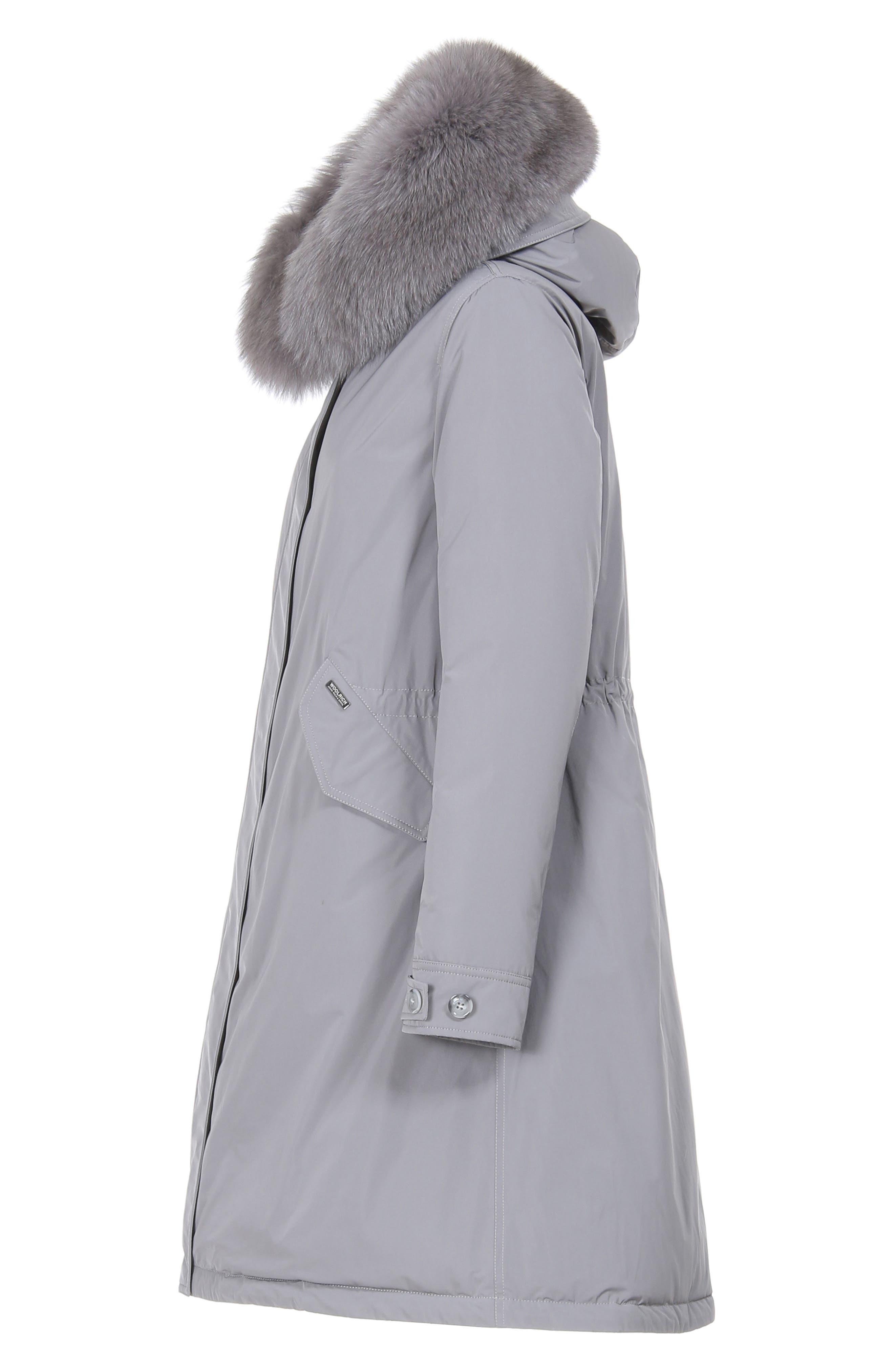 Keystone Down Parka with Genuine Fox Fur Trim,                             Alternate thumbnail 6, color,                             URBAN GREY