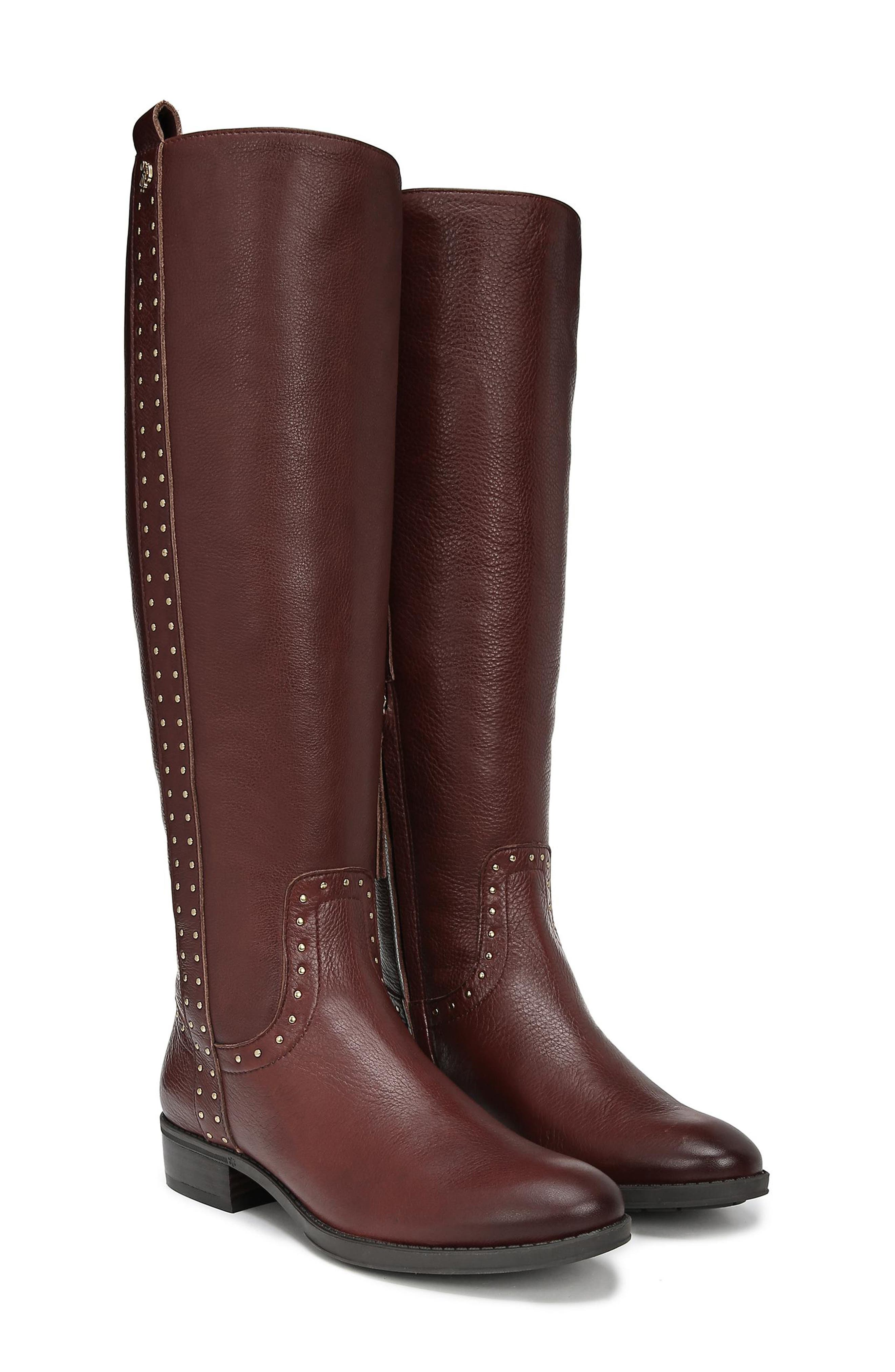 Prina Riding Boot,                             Alternate thumbnail 9, color,                             REDWOOD BROWN LEATHER