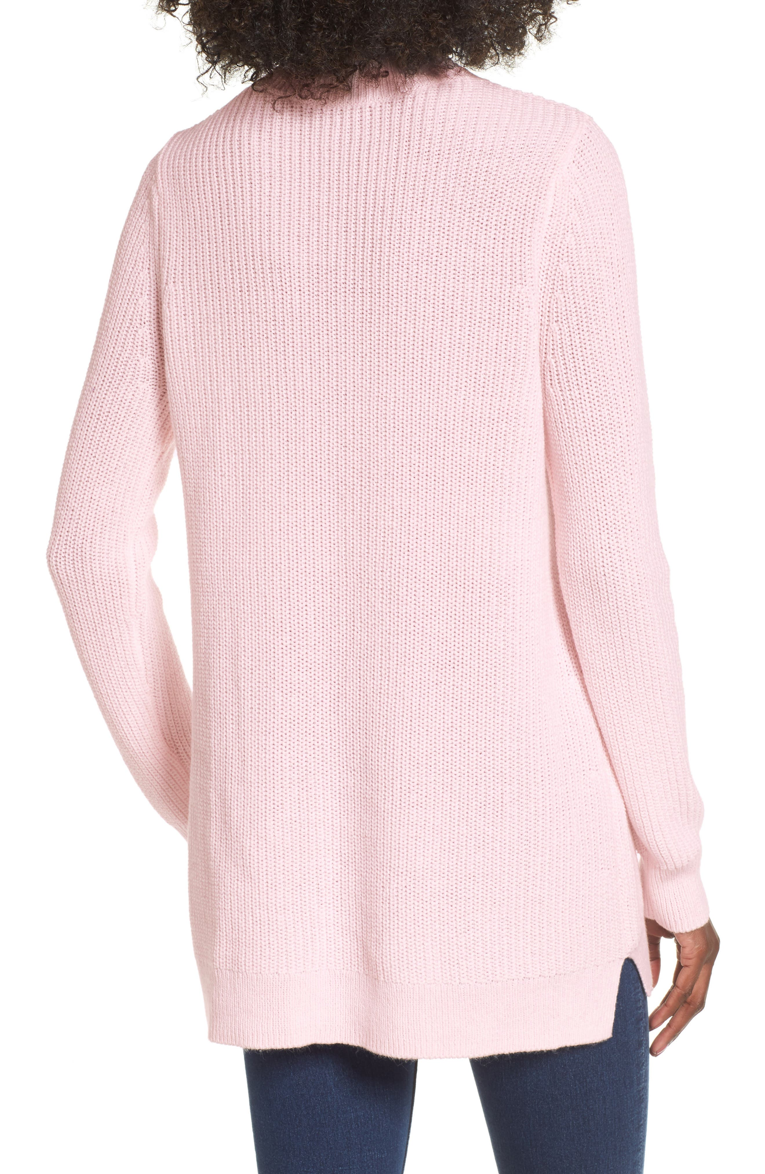 Mock Neck Tunic Sweater,                             Alternate thumbnail 8, color,