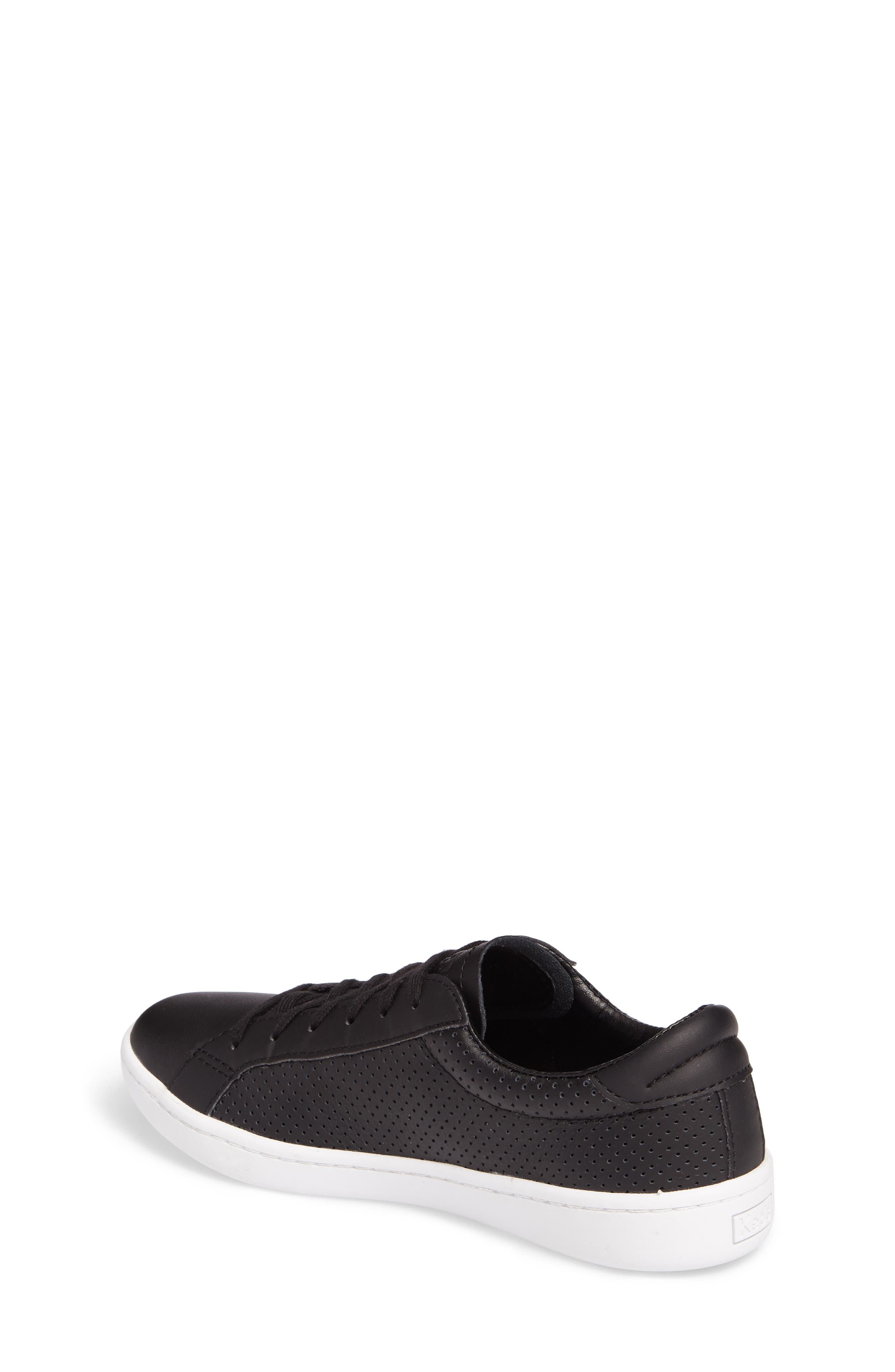 Ace Perforated Low Top Sneaker,                             Alternate thumbnail 2, color,                             001