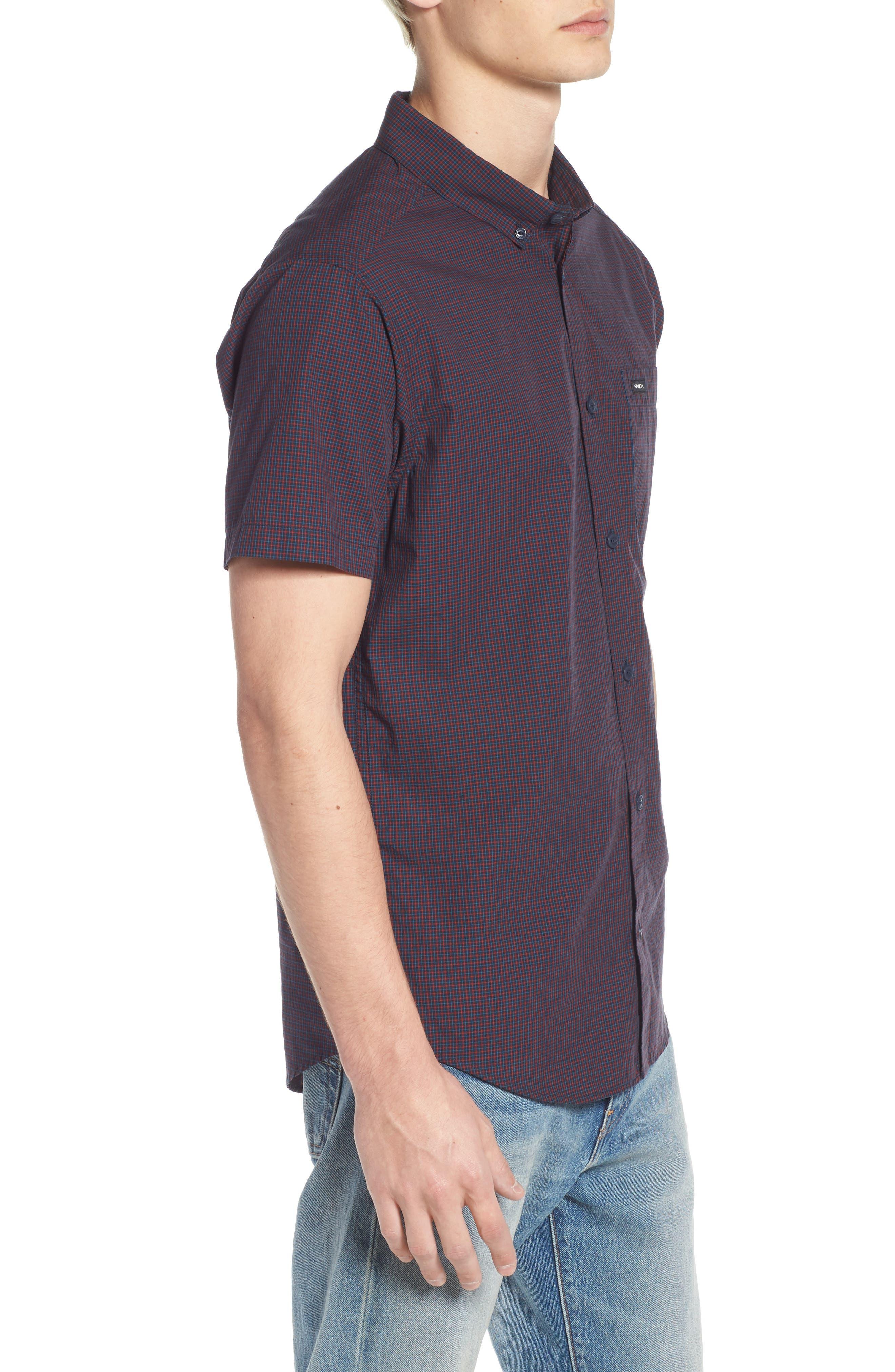 Staple Woven Shirt,                             Alternate thumbnail 3, color,                             NEW NAVY