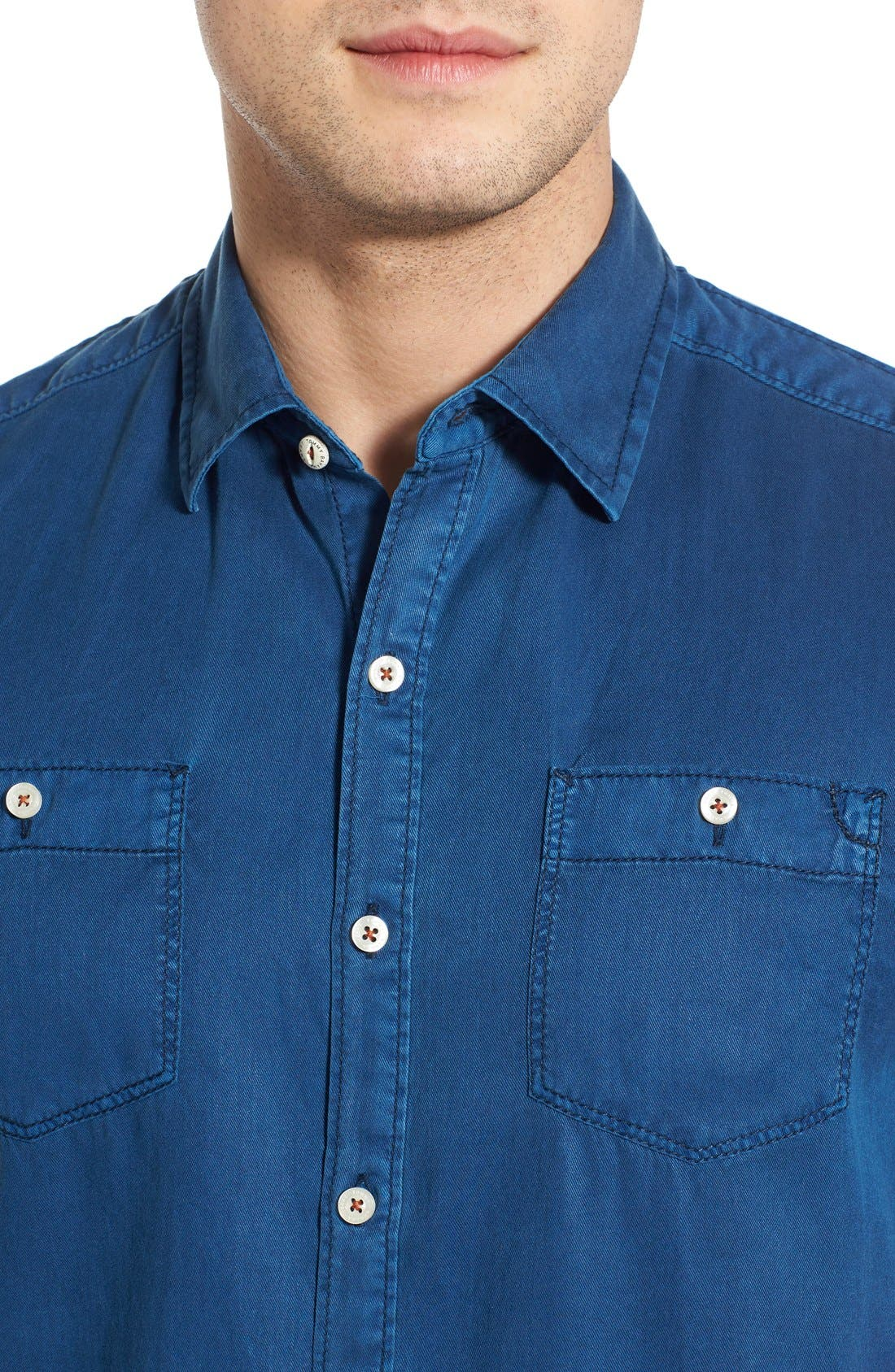 'New Twilly' Island Modern Fit Short Sleeve Twill Shirt,                             Alternate thumbnail 39, color,