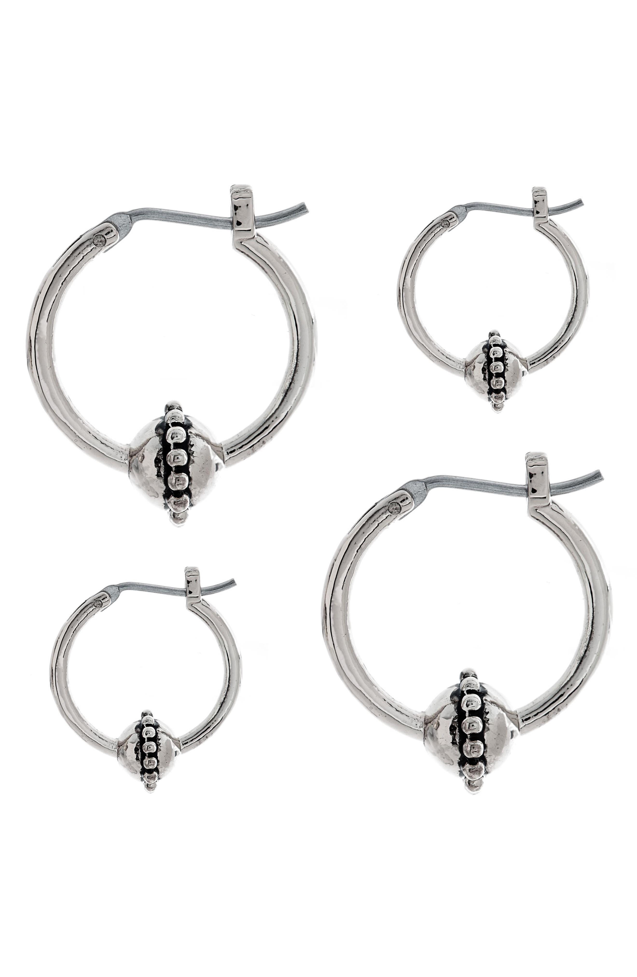 Baroque Hoop Earrings,                             Alternate thumbnail 4, color,                             040