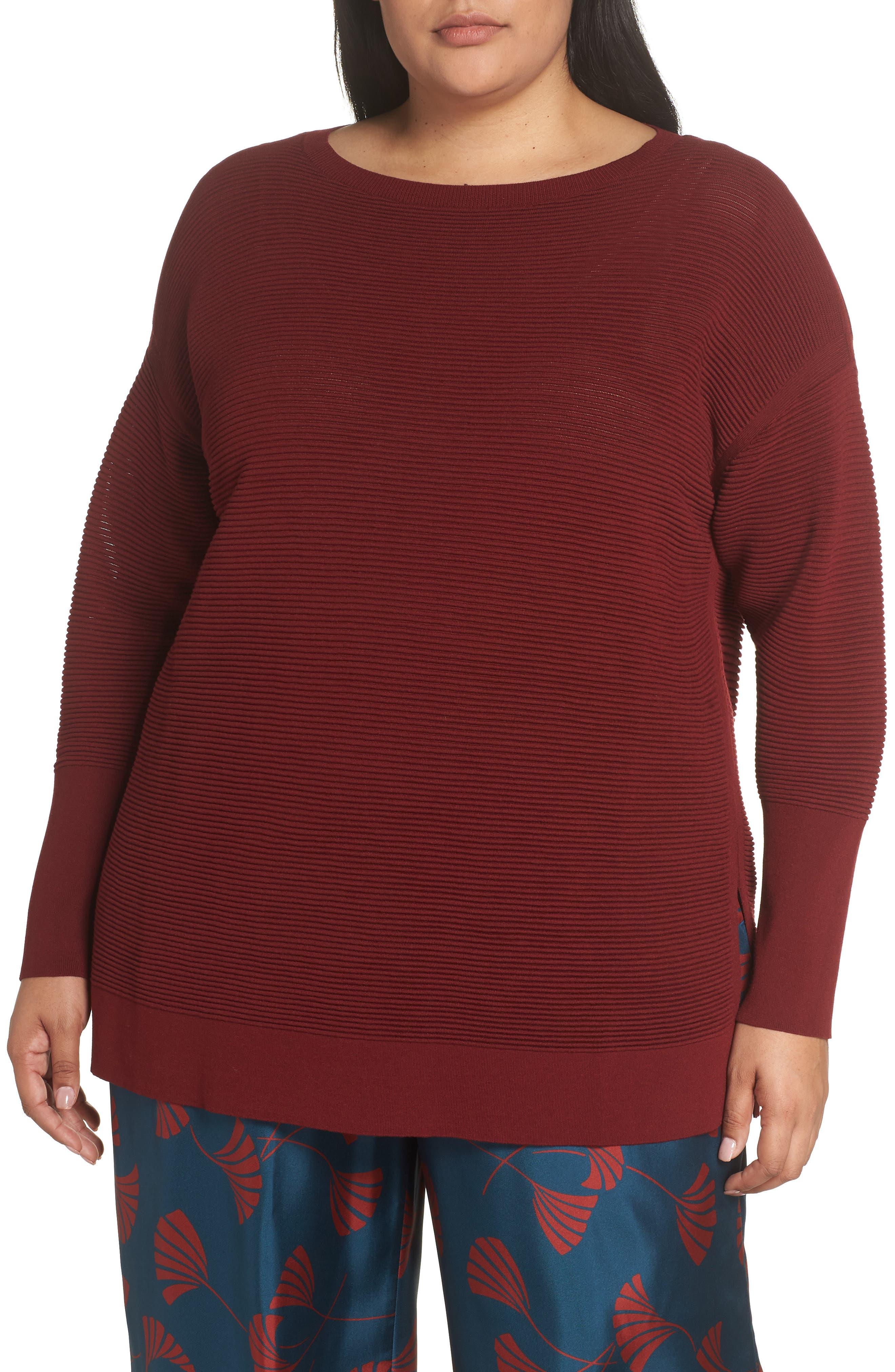 LAFAYETTE 148 NEW YORK Bateau Neck Matte Crepe Sweater, Main, color, 601