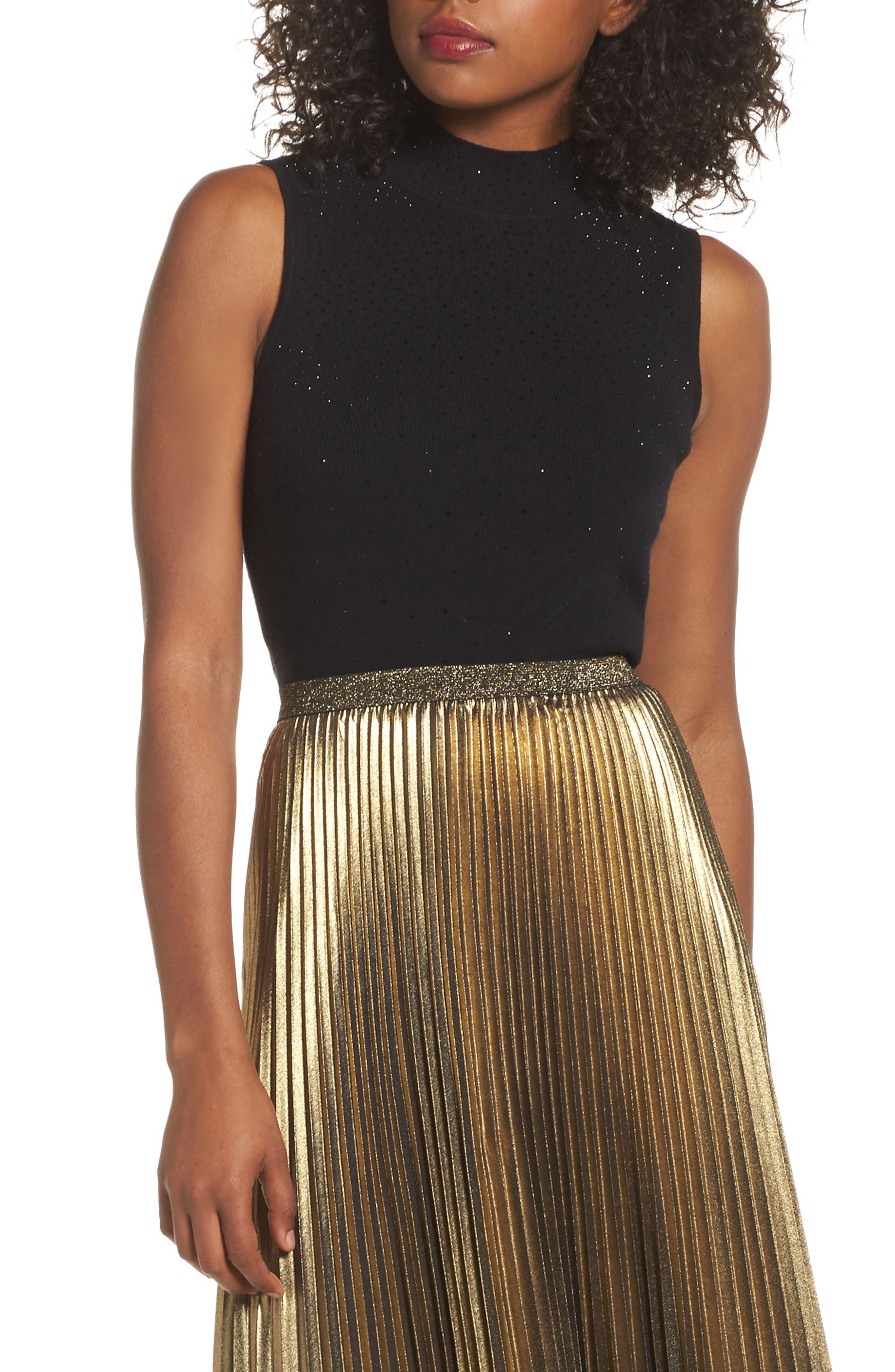Embellished Sleeveless Top,                         Main,                         color,