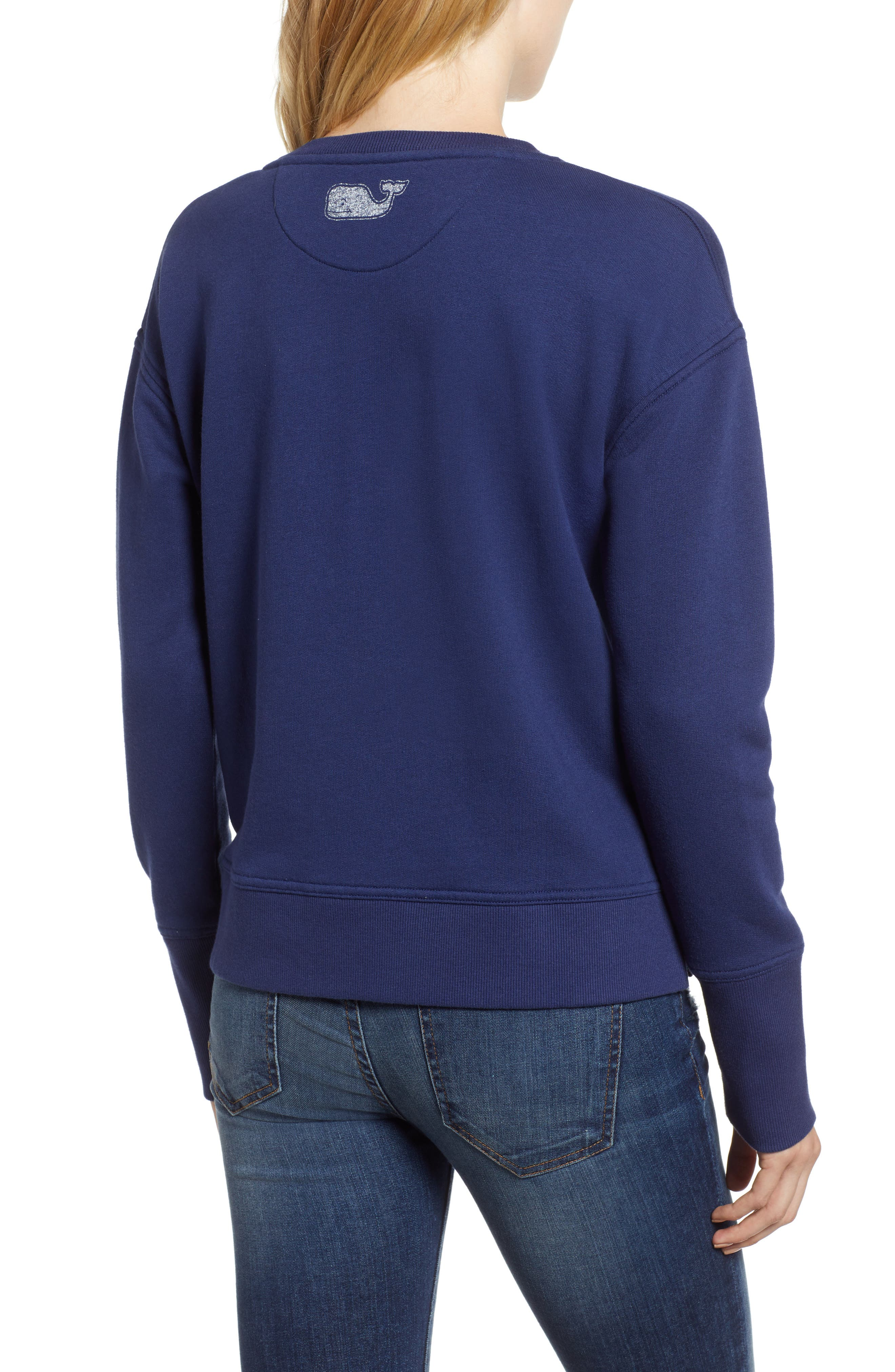 Crewneck Cotton Blend Sweatshirt,                             Alternate thumbnail 2, color,                             476