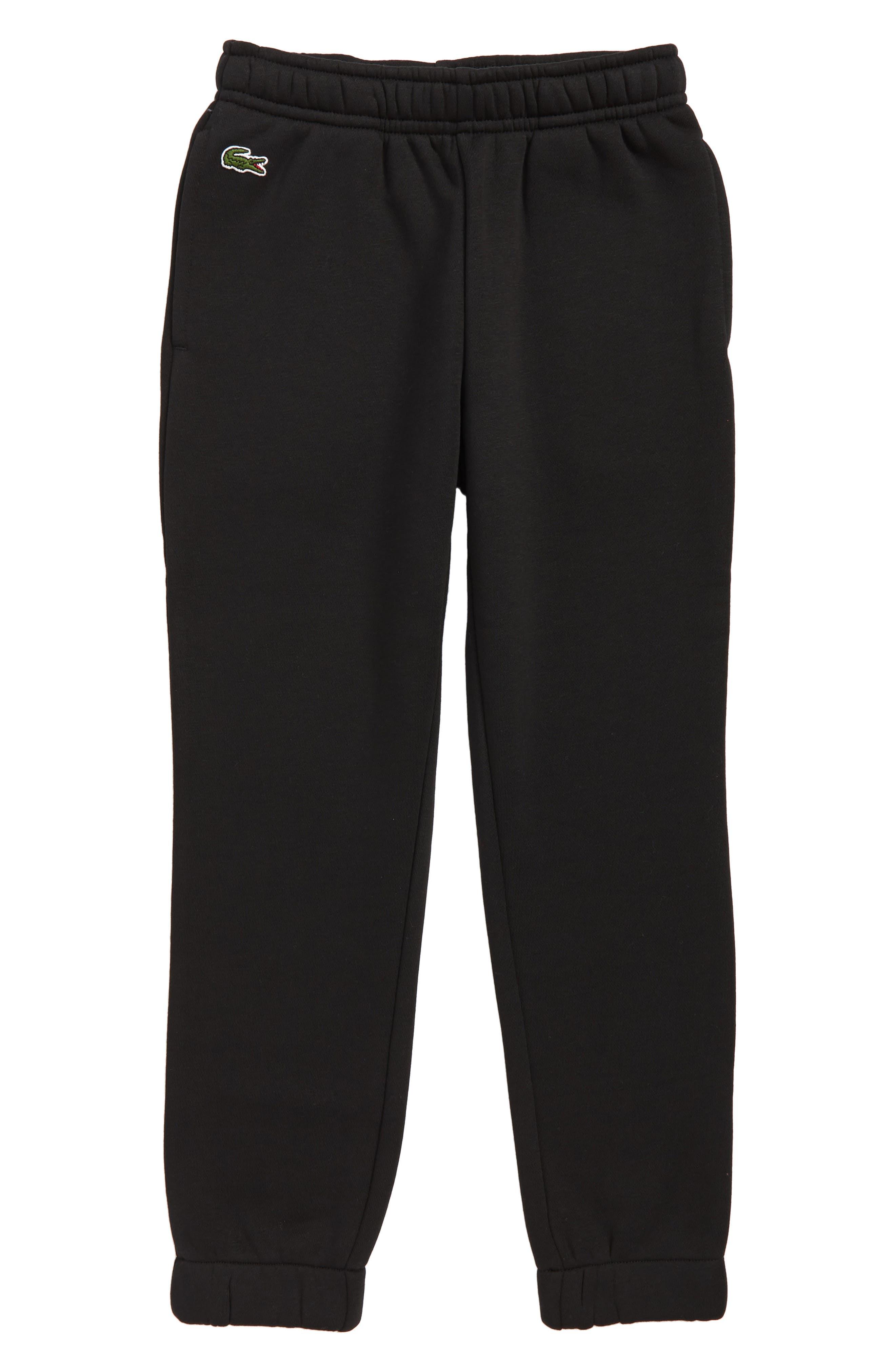 Boys Lacoste Fleece Pants Size 6Y  Black
