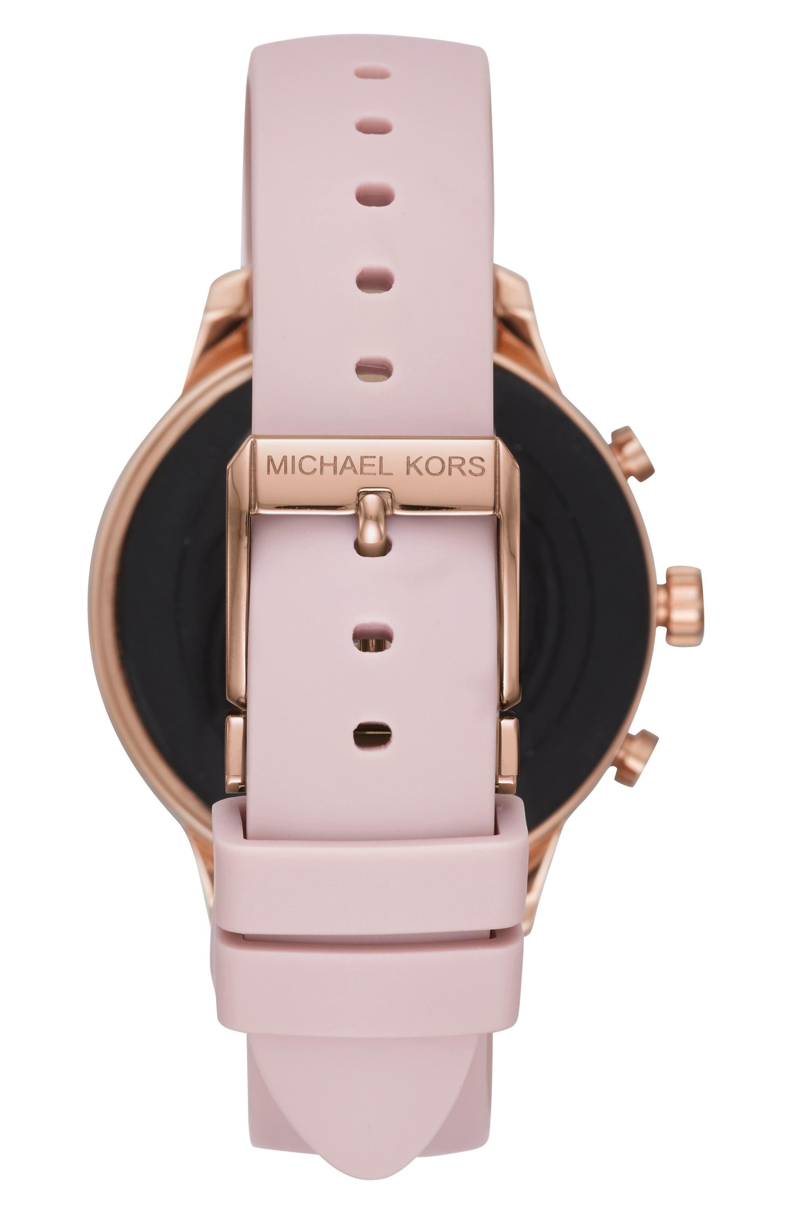 MICHAEL KORS,                             MICHAEL Michael Kors Access Runway Smart Watch, 41mm,                             Alternate thumbnail 2, color,                             PINK/ ROSE GOLD