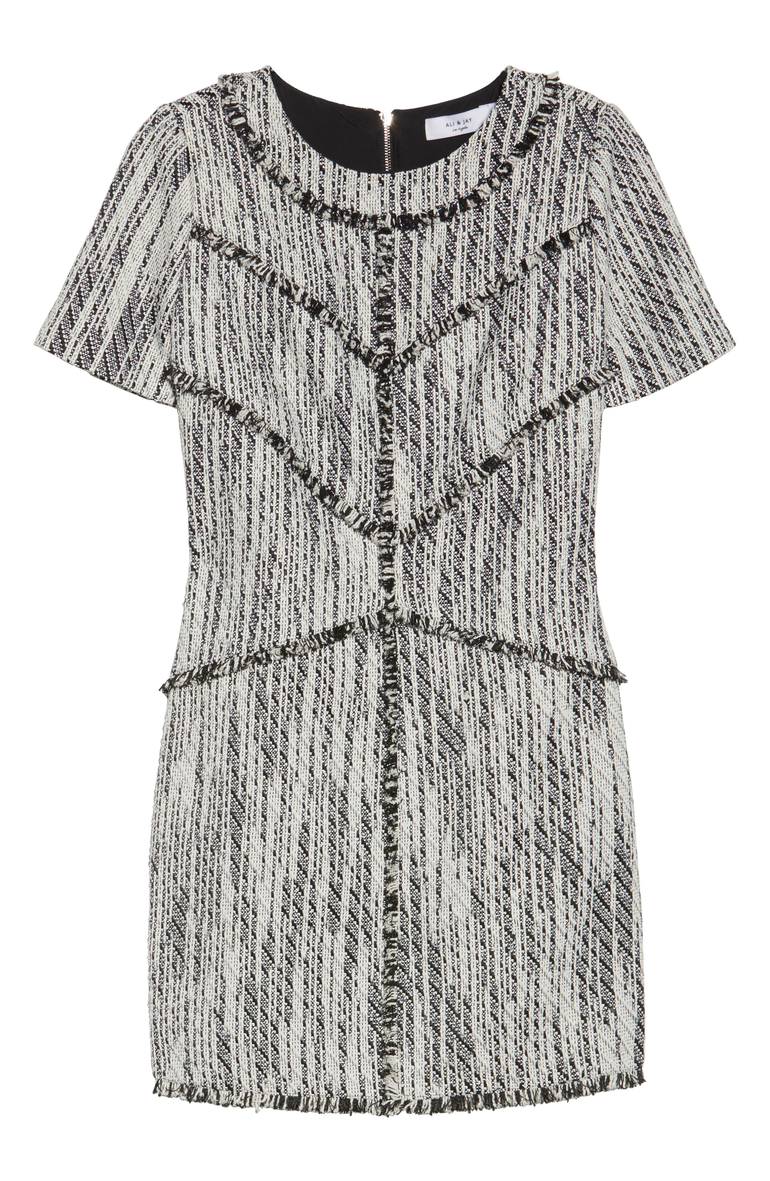 Dolce Vita Tweed Shift Dress,                             Alternate thumbnail 6, color,                             100