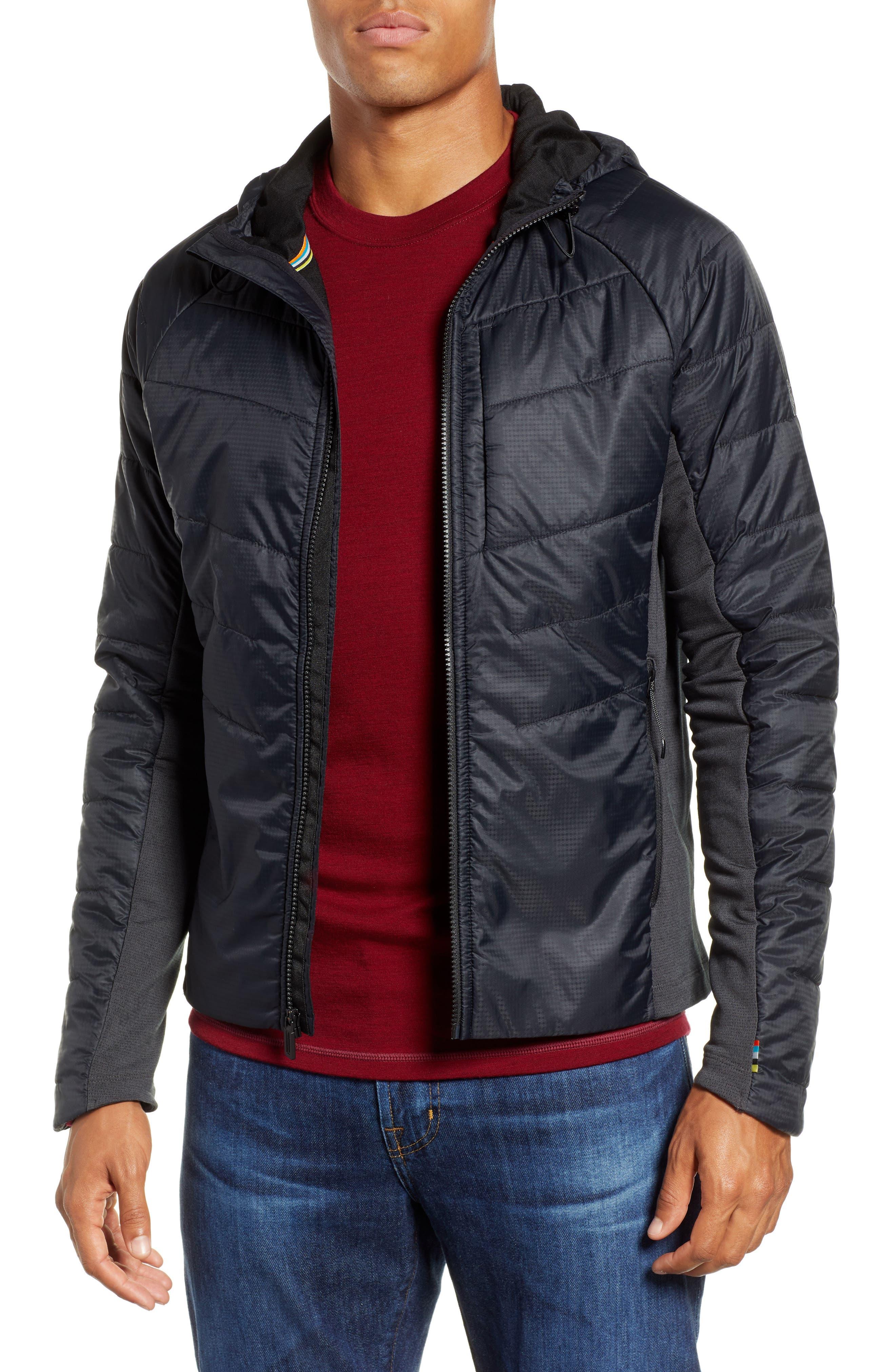 Smartloft 60 Hooded Jacket,                         Main,                         color, BLACK