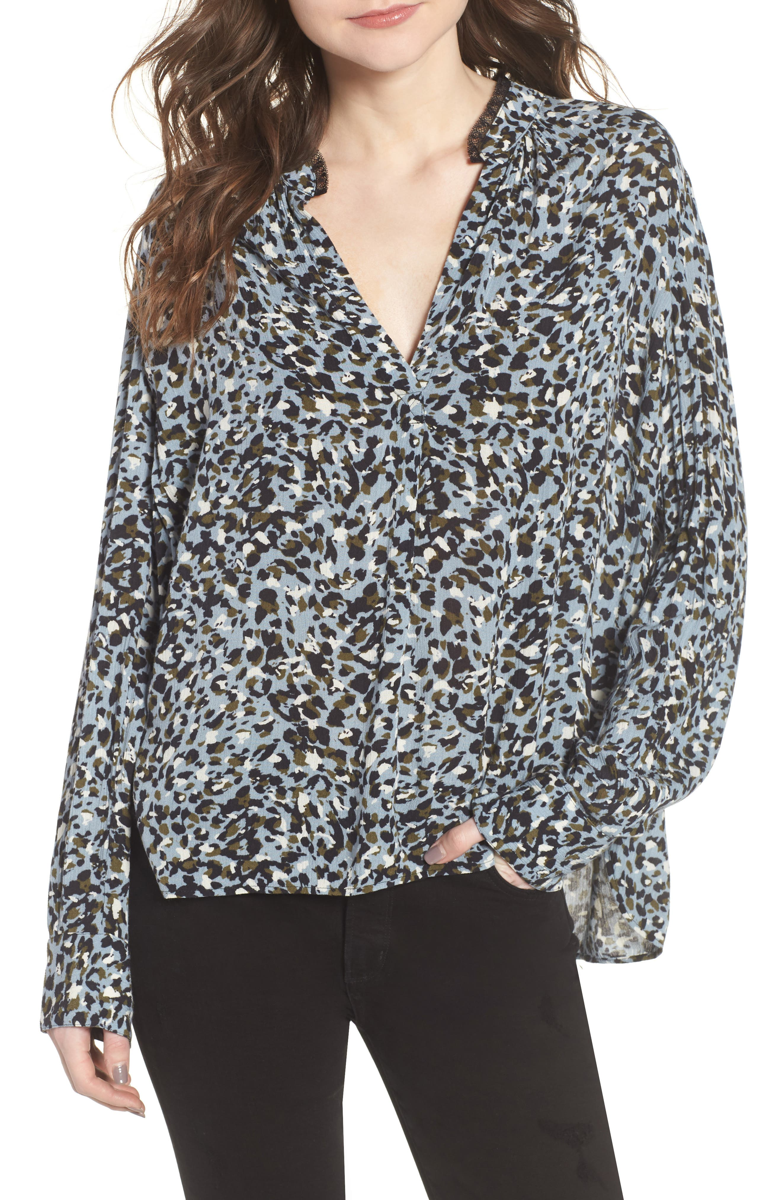 Tink Leopard Print Top,                         Main,                         color, 400