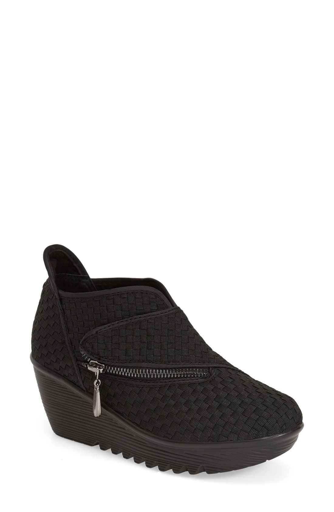 'ZigZag' Wedge Bootie,                             Main thumbnail 1, color,                             001
