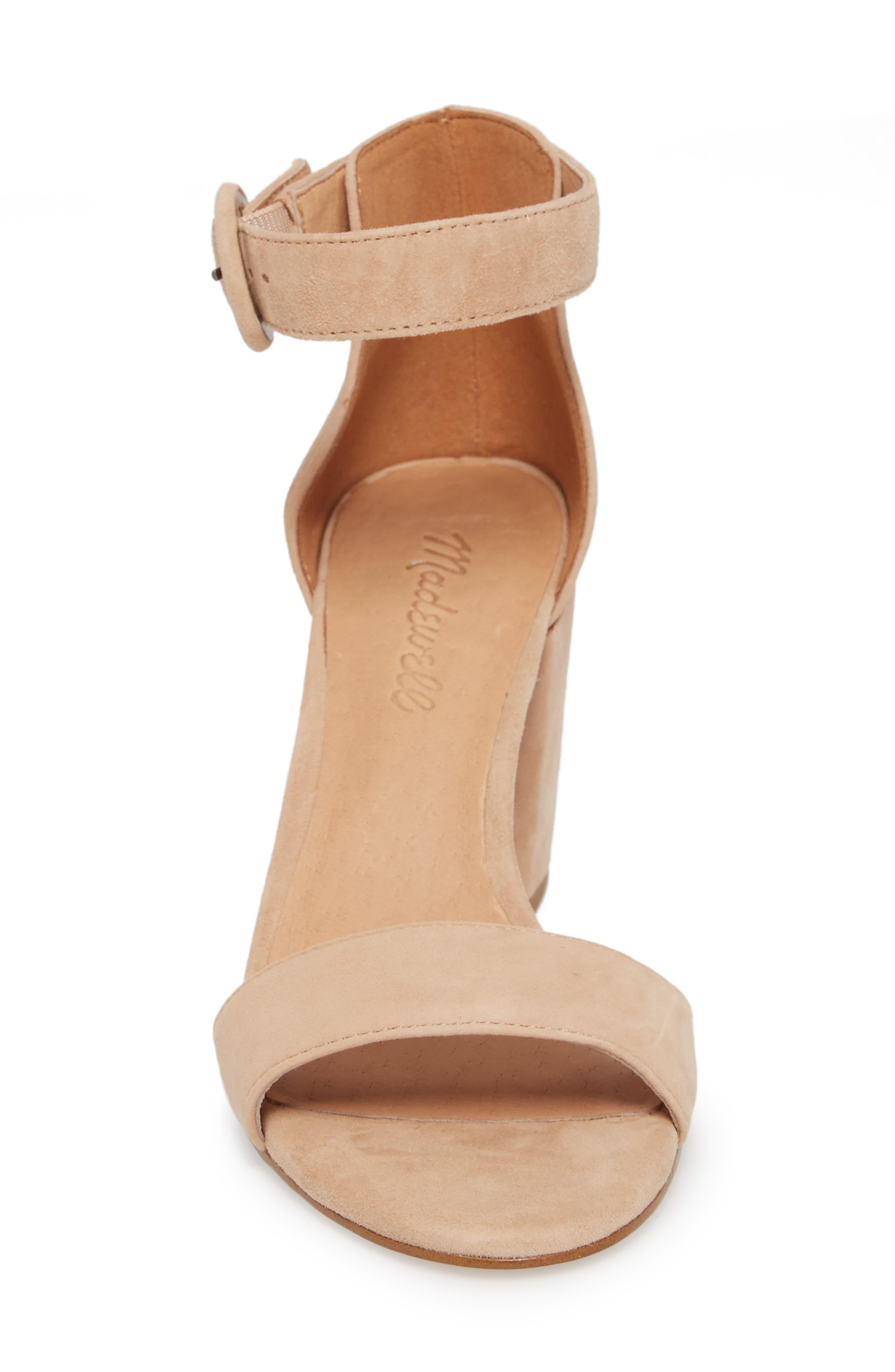 The Regina Ankle Strap Sandal,                             Alternate thumbnail 4, color,                             SAND DUNE SUEDE