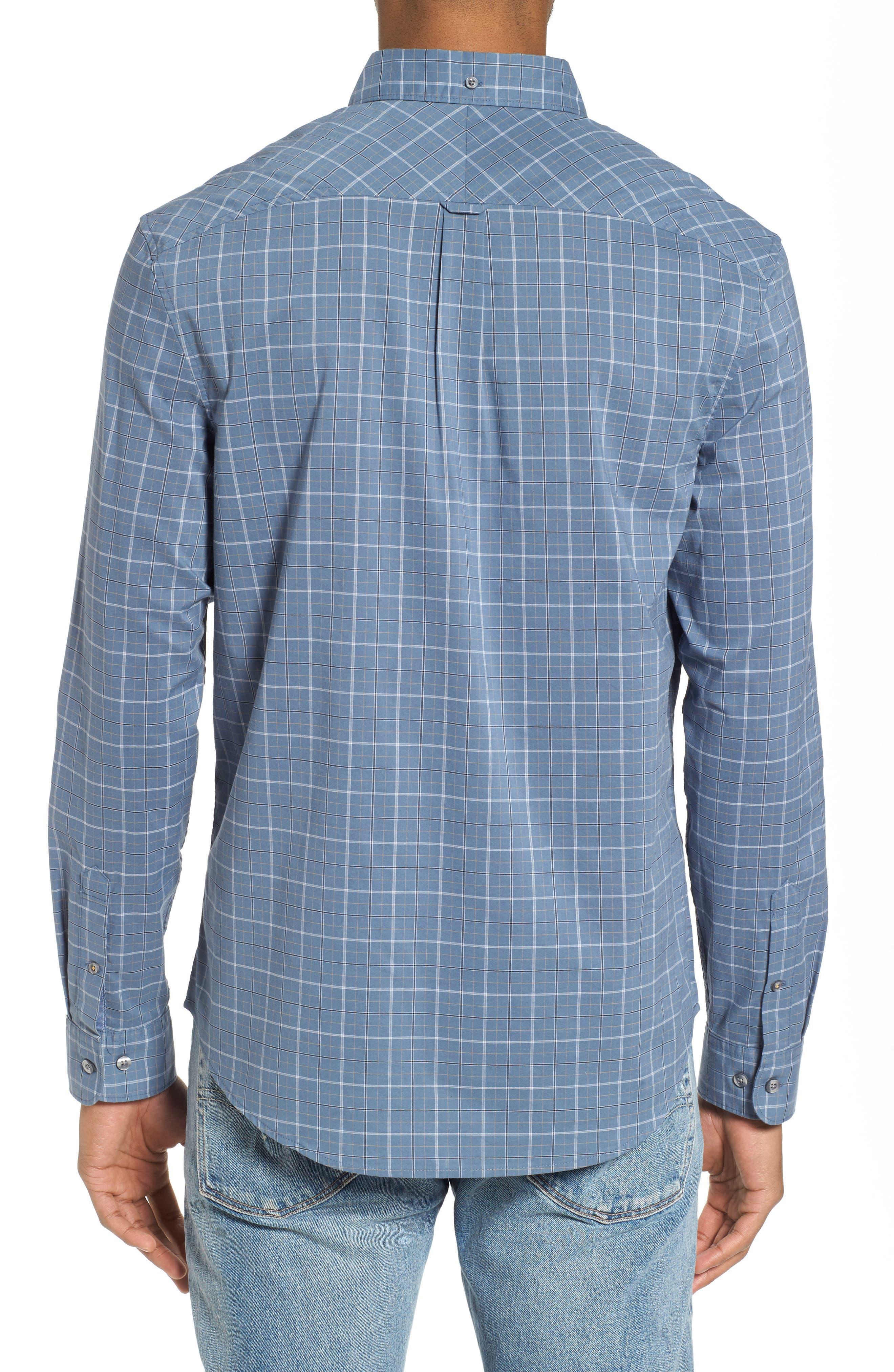 Slim Fit Plaid Woven Shirt,                             Alternate thumbnail 2, color,