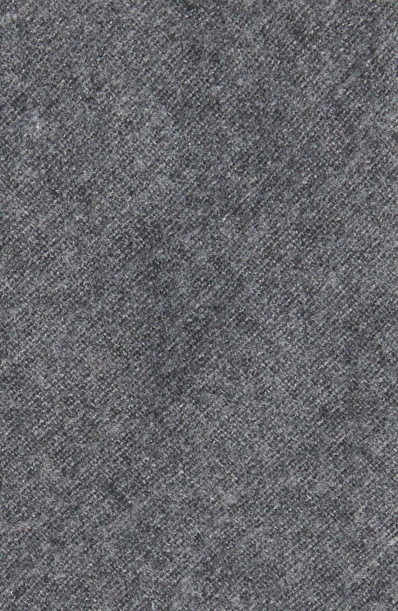 Bert Solid Cotton Skinny Tie,                             Alternate thumbnail 2, color,                             010
