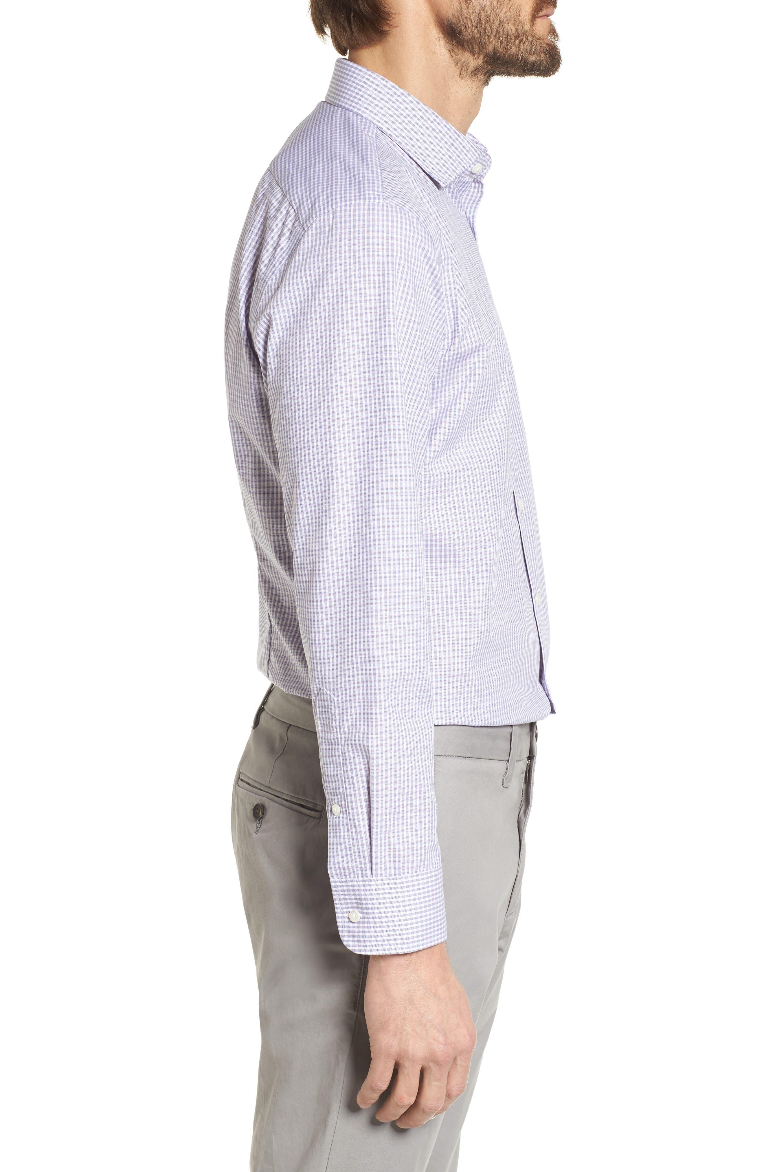 Extra Trim Fit Non-Iron Check Dress Shirt,                             Alternate thumbnail 11, color,