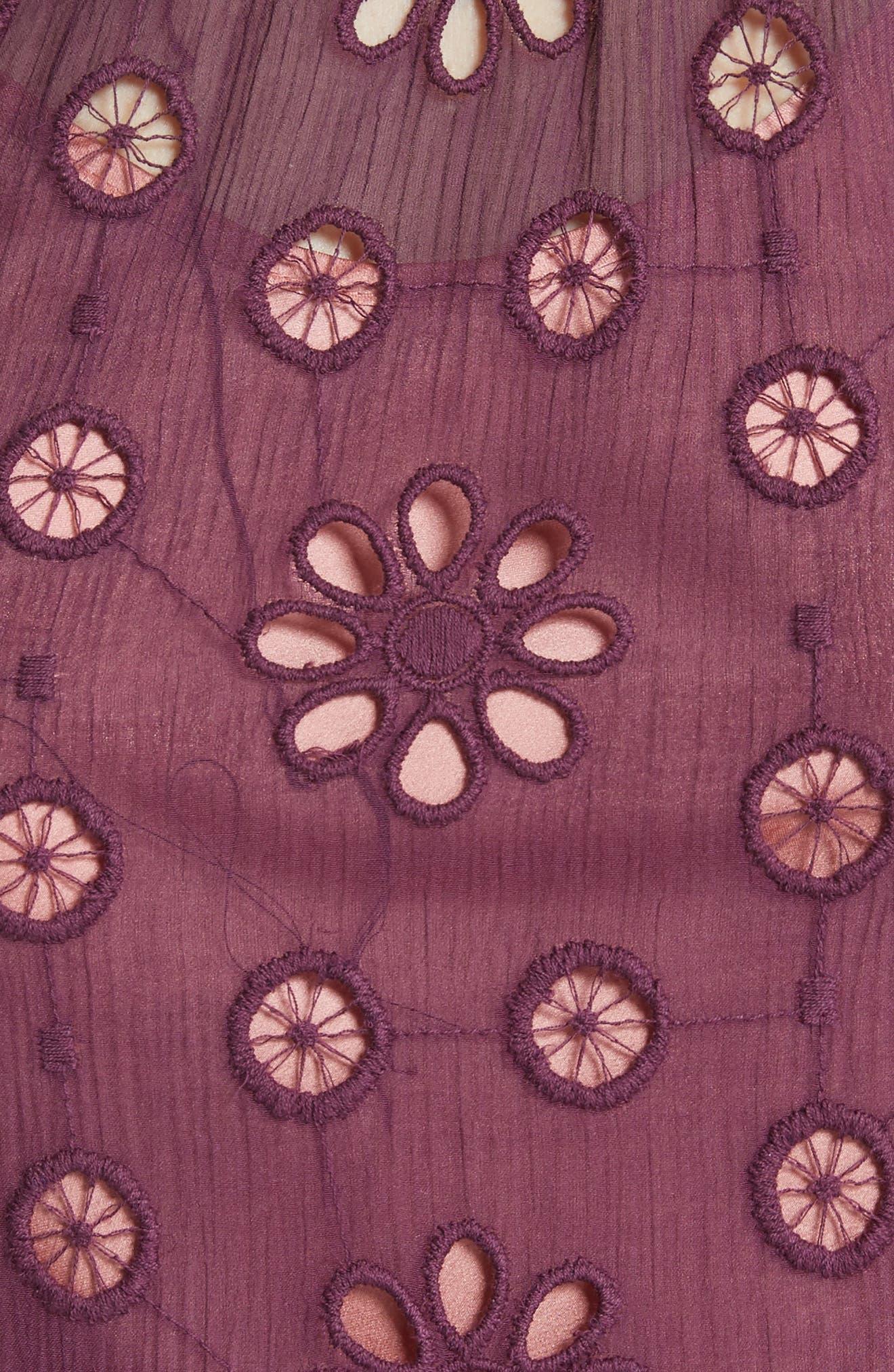 Pinwheel Eyelet Dress,                             Alternate thumbnail 5, color,