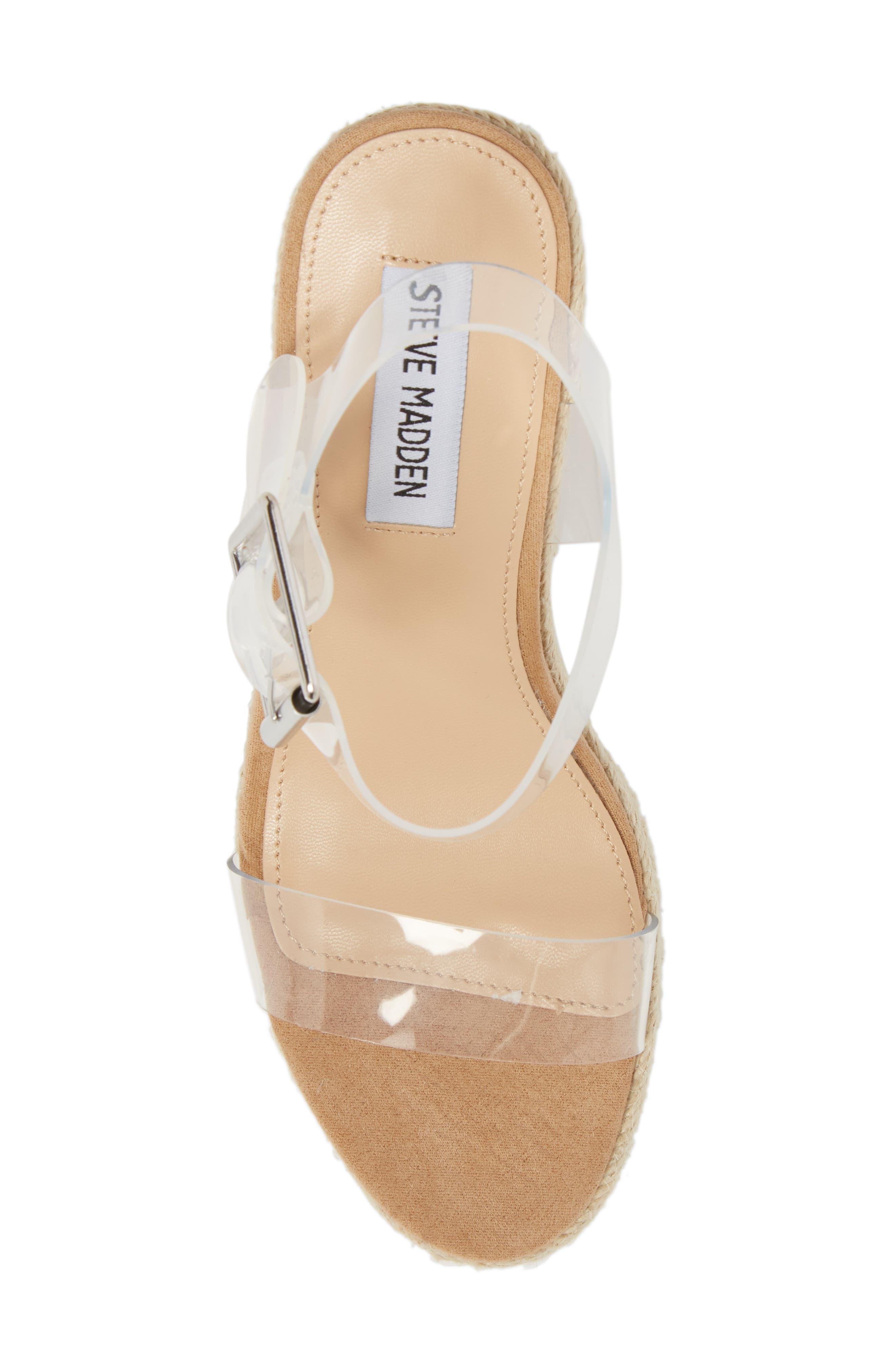 Splash Transparent Strap Wedge Sandal,                             Alternate thumbnail 5, color,                             250