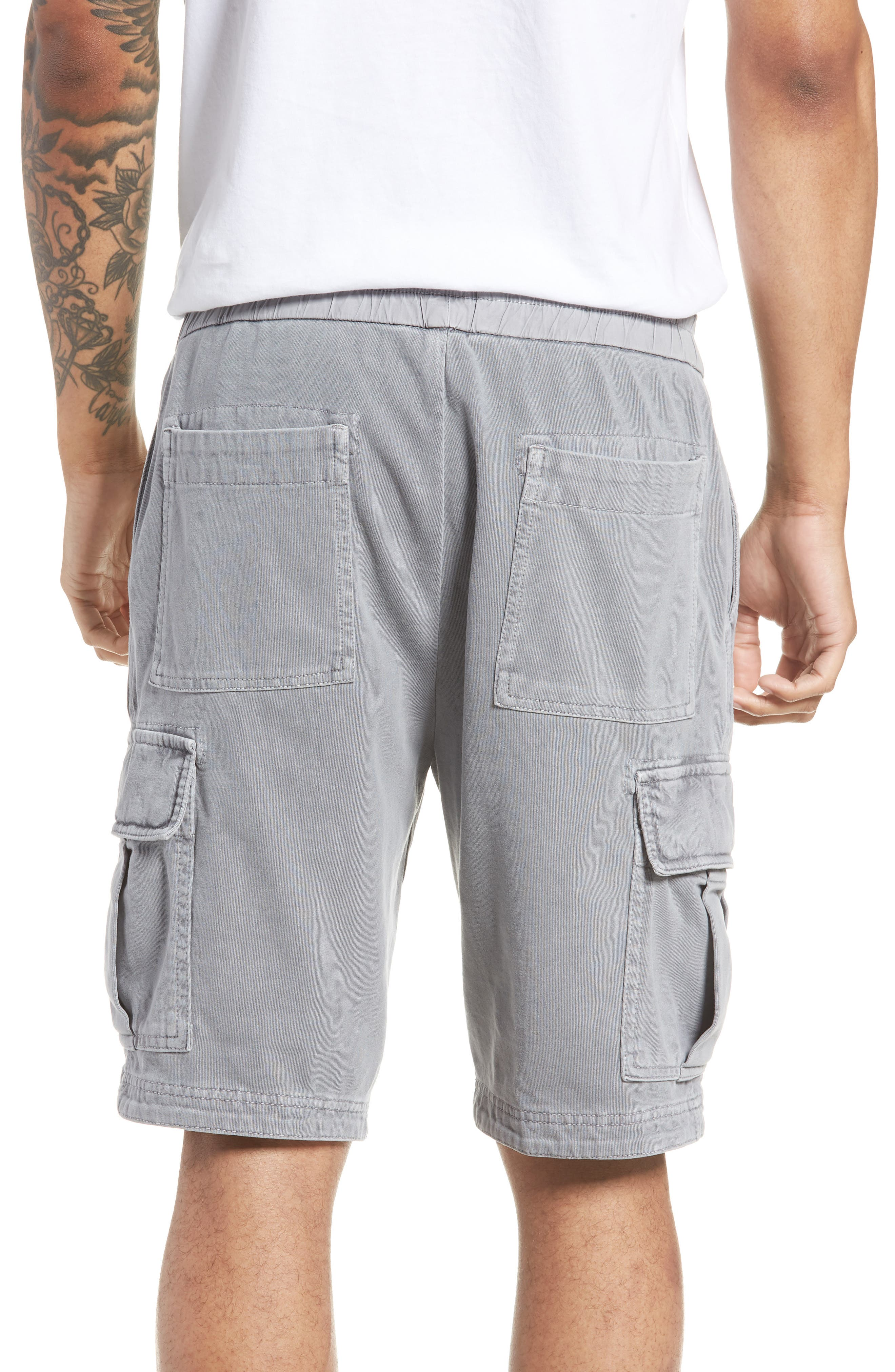 Heavy Jersey Cargo Shorts,                             Alternate thumbnail 2, color,                             BREEZE PIGMENT