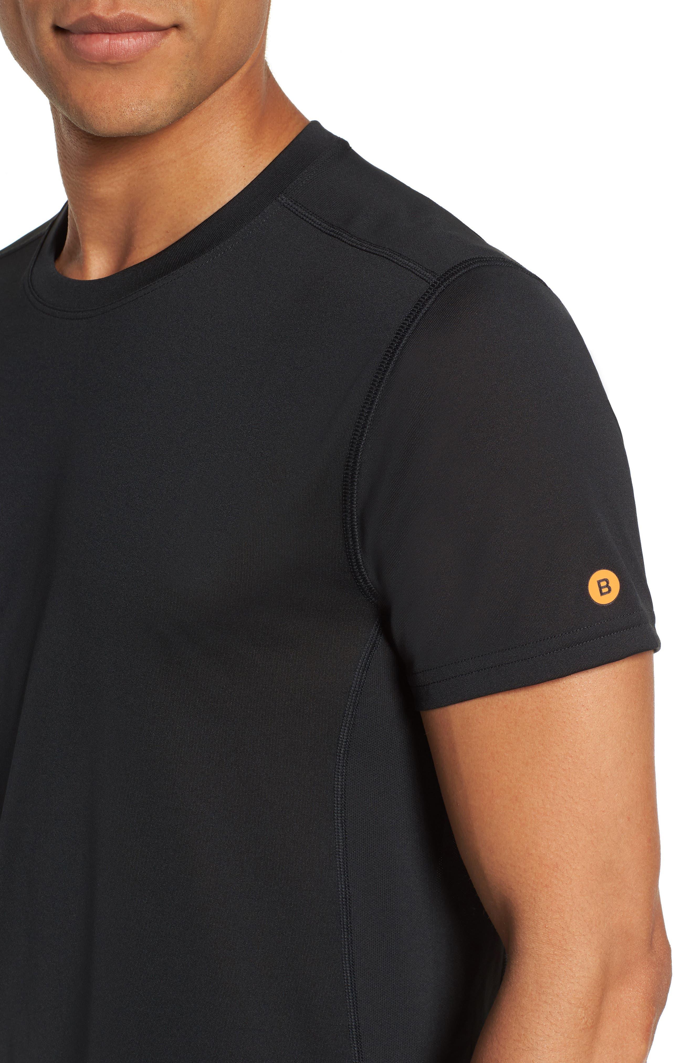 Goodsport Mesh Panel T-Shirt,                             Alternate thumbnail 4, color,                             001