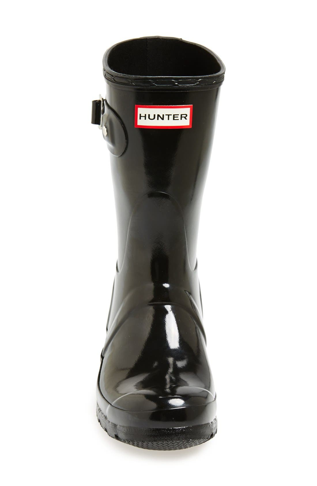 Original Short Gloss Waterproof Rain Boot,                             Alternate thumbnail 6, color,                             001