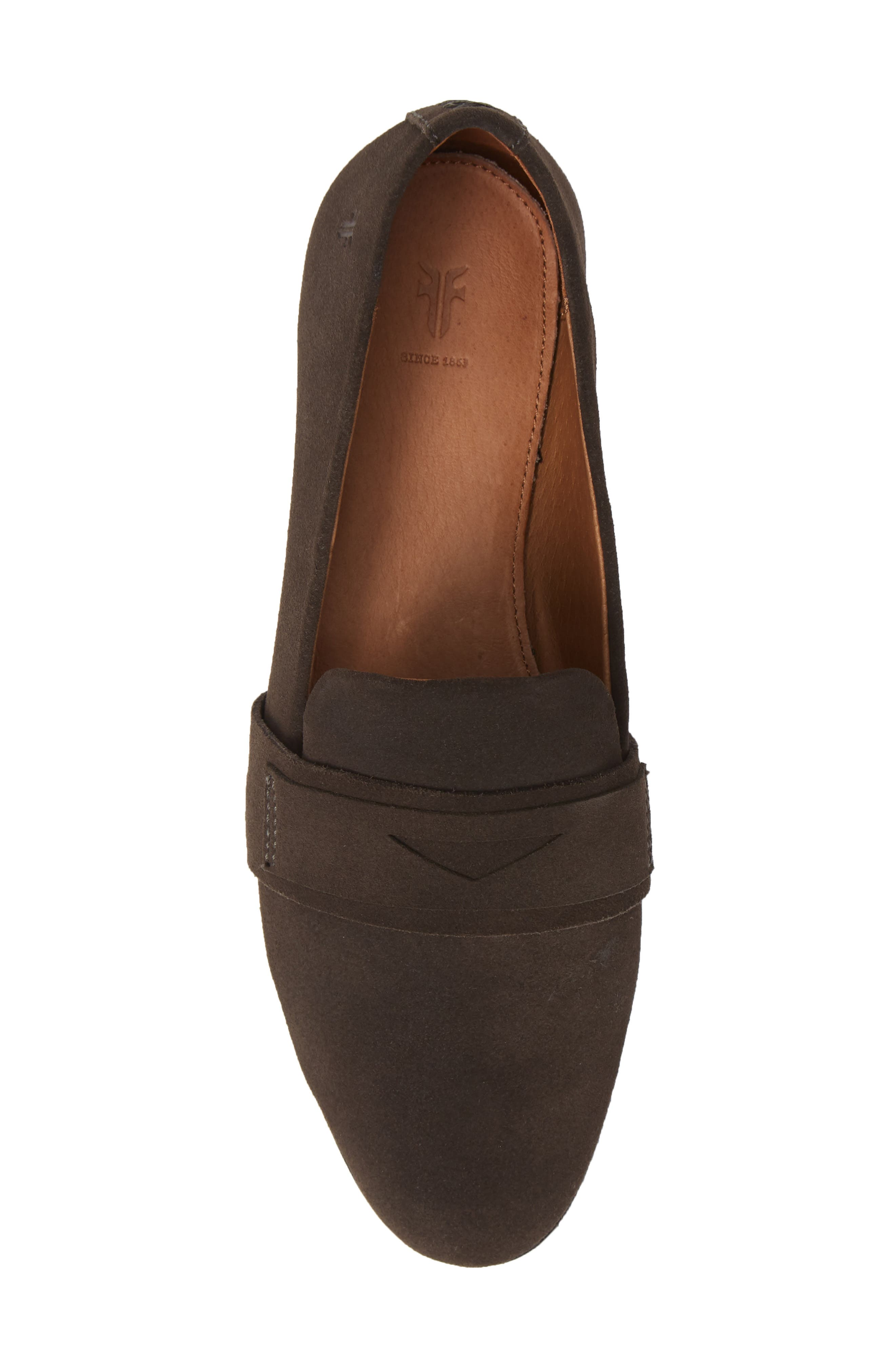 Terri Penny Loafer,                             Alternate thumbnail 5, color,                             CHARCOAL SUEDE