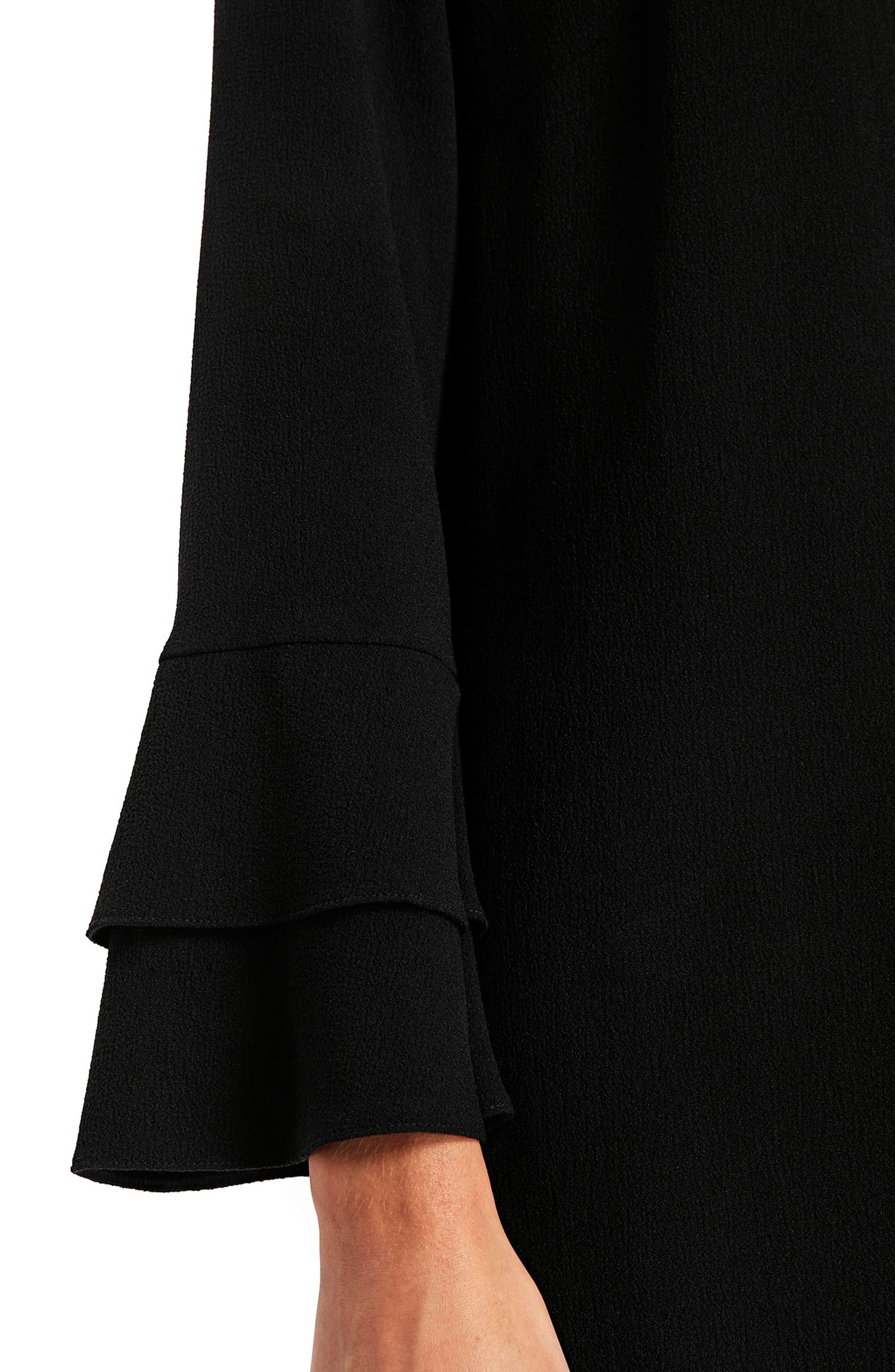 Bell Sleeve Shift Dress,                             Alternate thumbnail 3, color,