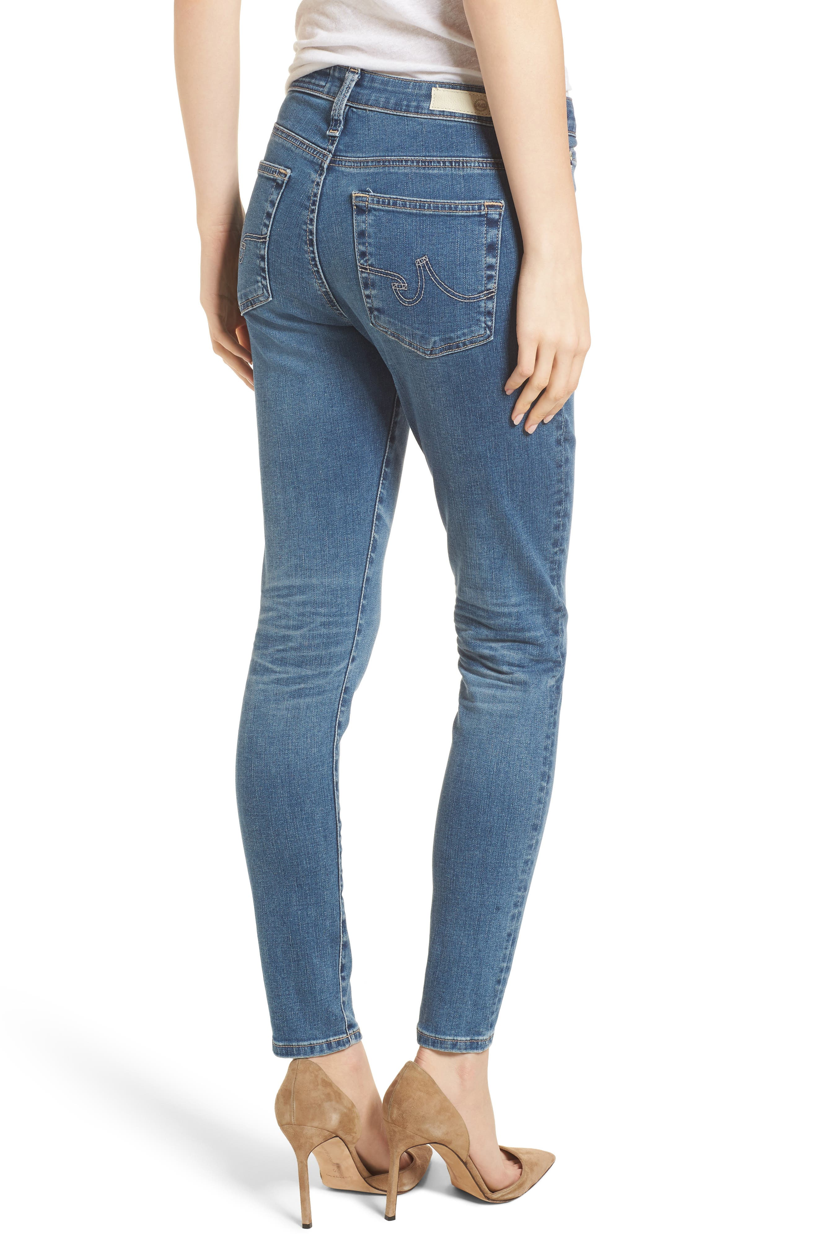 The Farrah High Waist Ankle Skinny Jeans,                             Alternate thumbnail 2, color,                             414