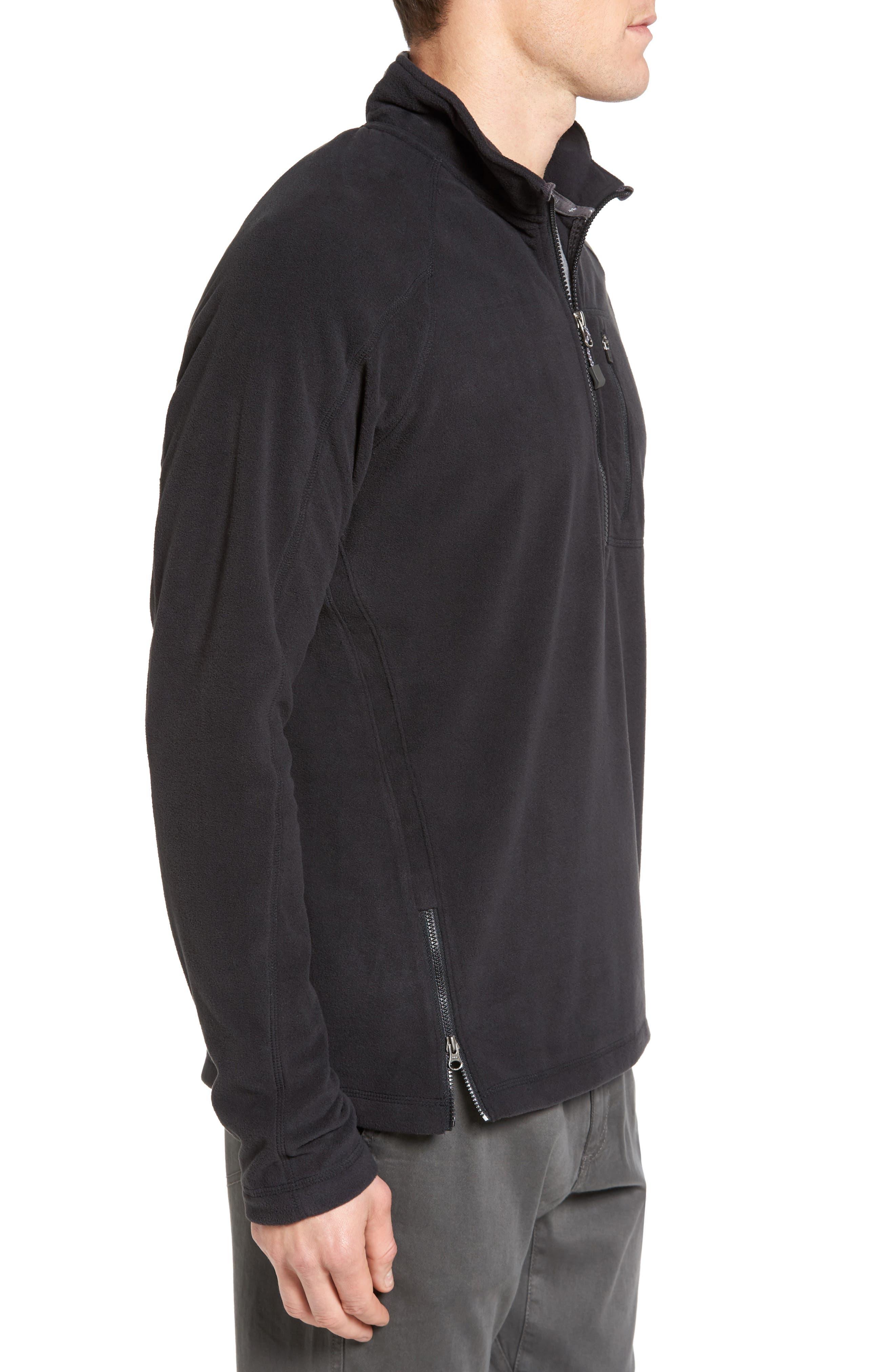 Utility Quarter Zip Fleece Sweater,                             Alternate thumbnail 3, color,                             002