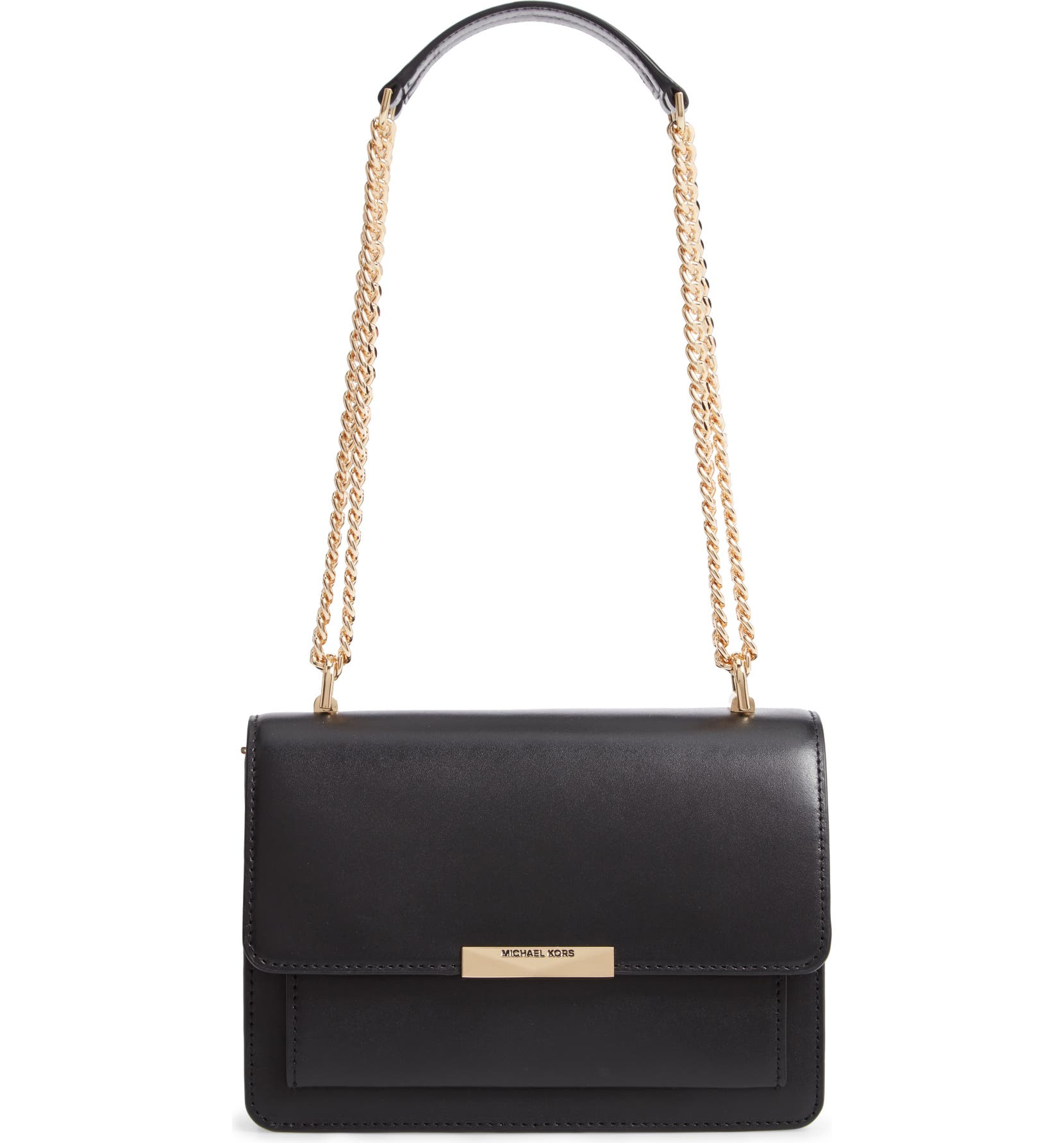 be010d13d2f6 MICHAEL Michael Kors Jade Leather Gusset Shoulder Bag