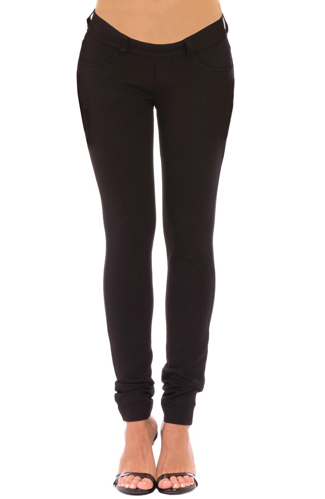 'Caroline' Skinny Ponte Knit Maternity Pants,                         Main,                         color,