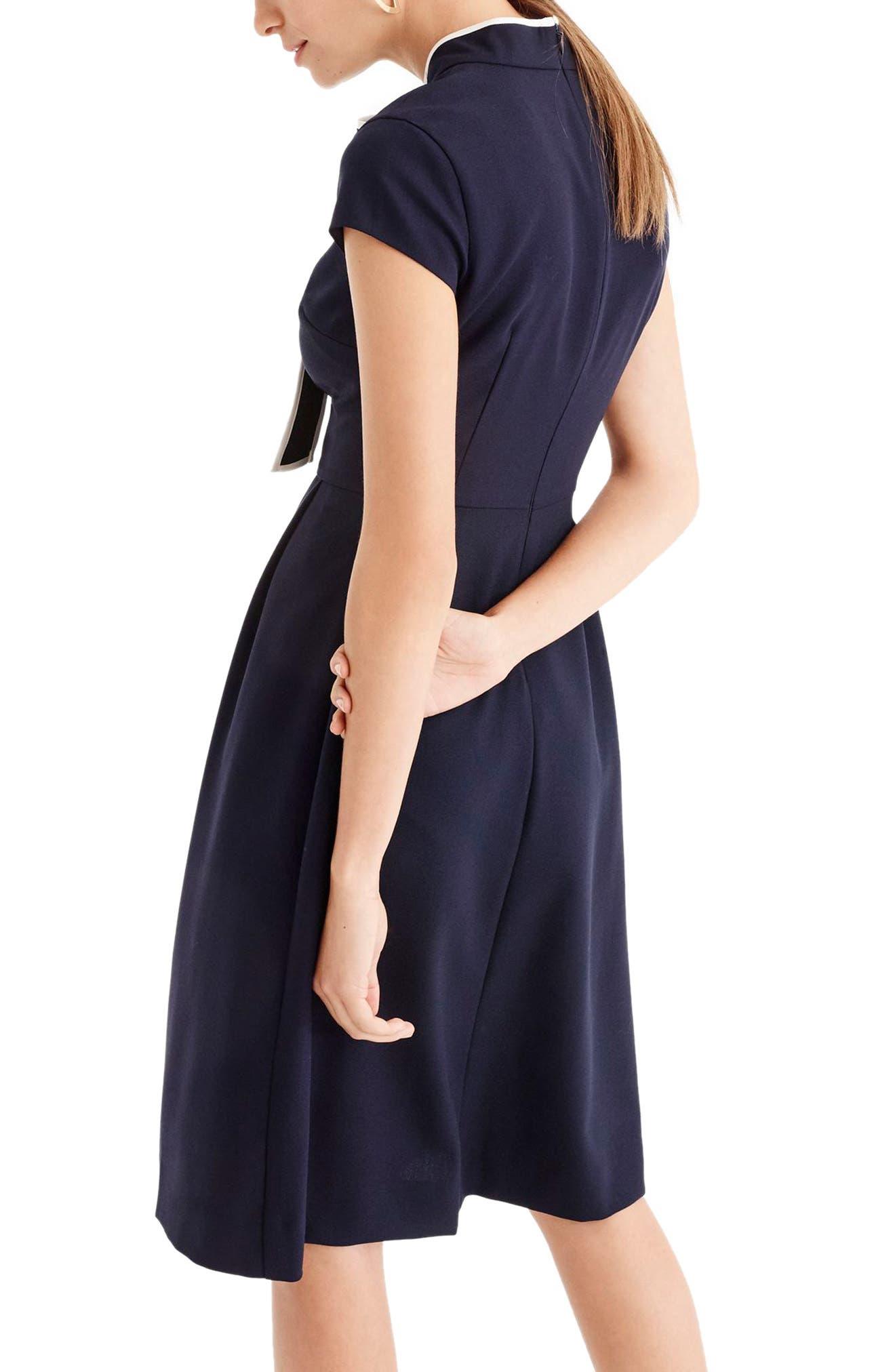 Tie-Neck Dress,                             Alternate thumbnail 2, color,                             400