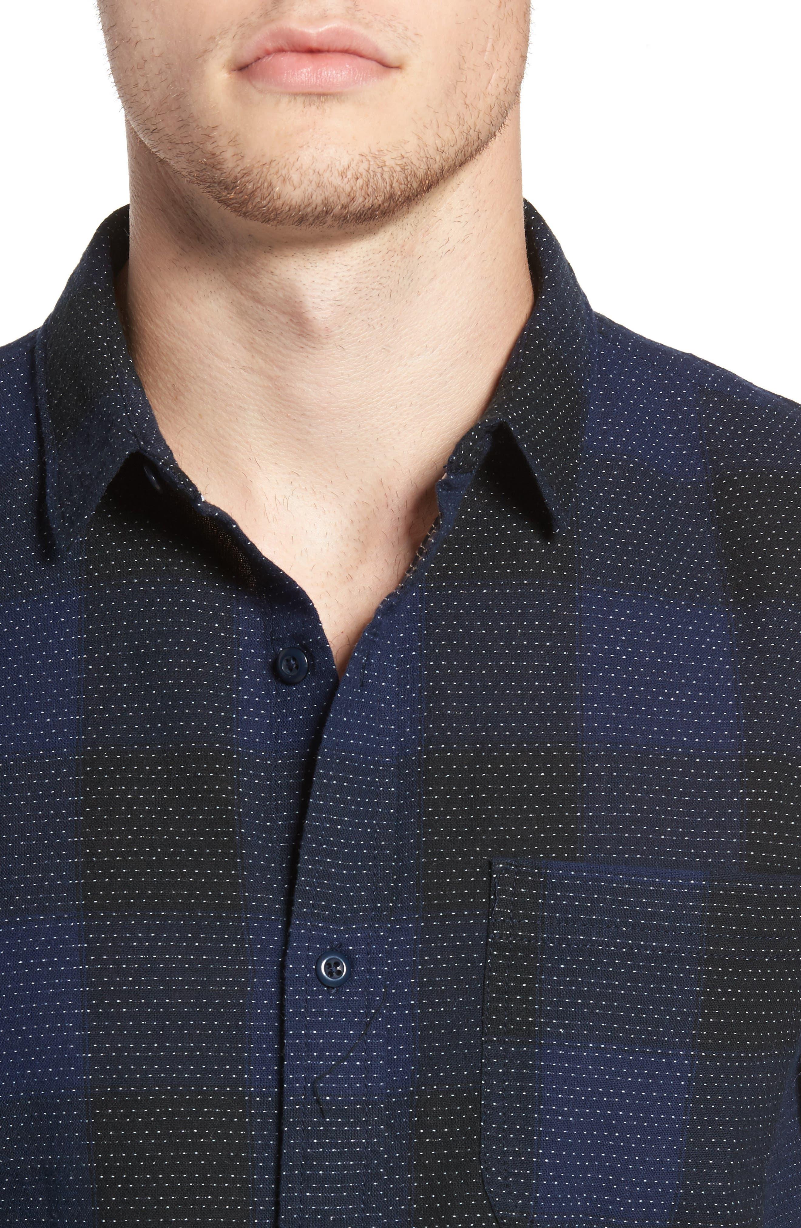 Dot Buffalo Plaid Shirt,                             Alternate thumbnail 4, color,