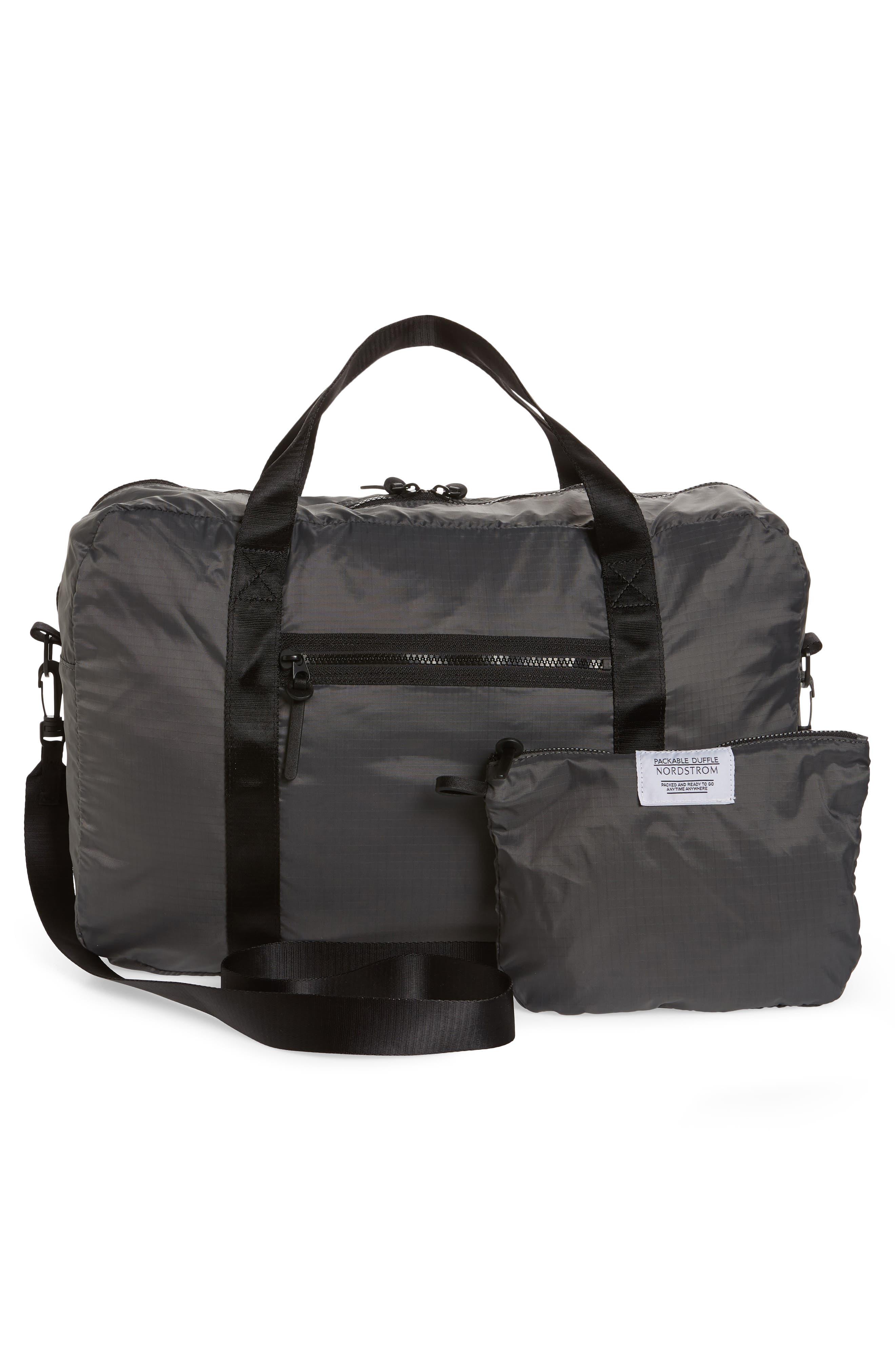 Packable Nylon Duffel Bag,                             Alternate thumbnail 8, color,