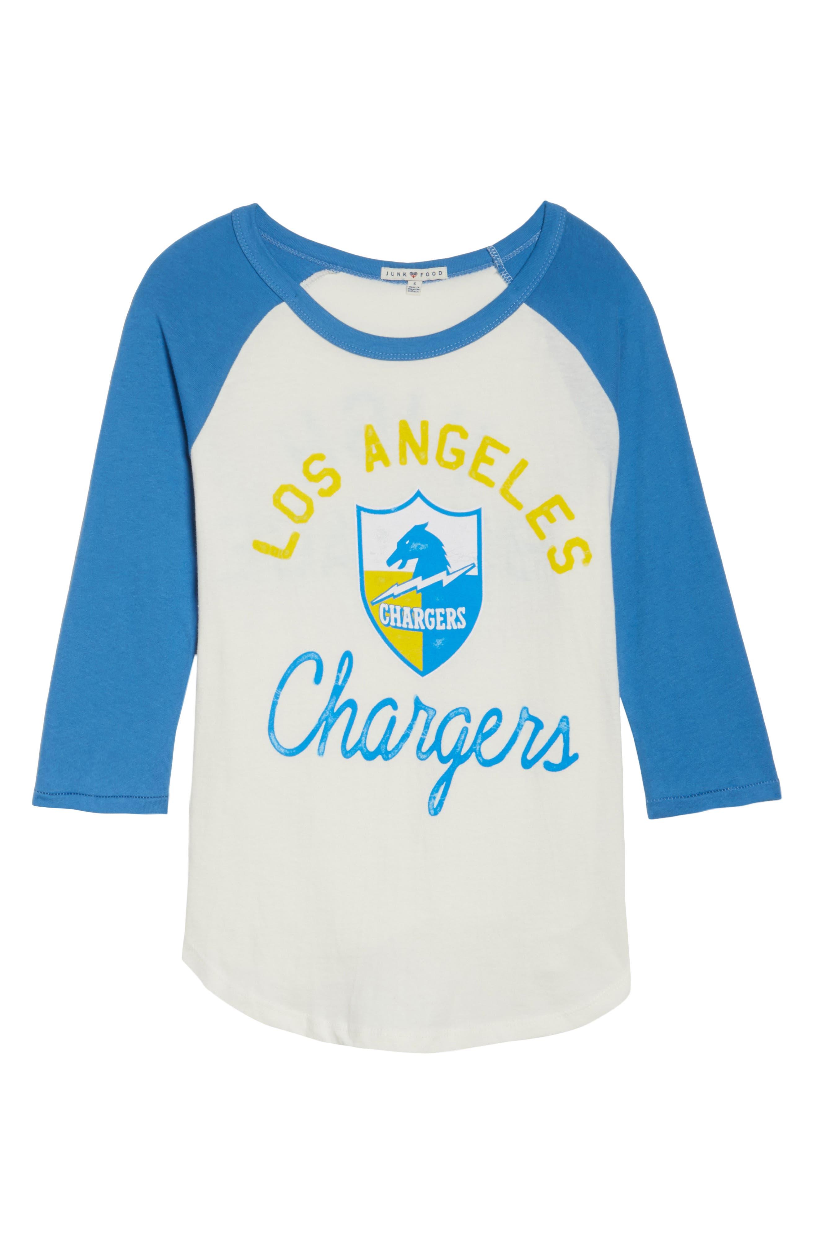 NFL Los Angeles Chargers Raglan Tee,                             Alternate thumbnail 6, color,