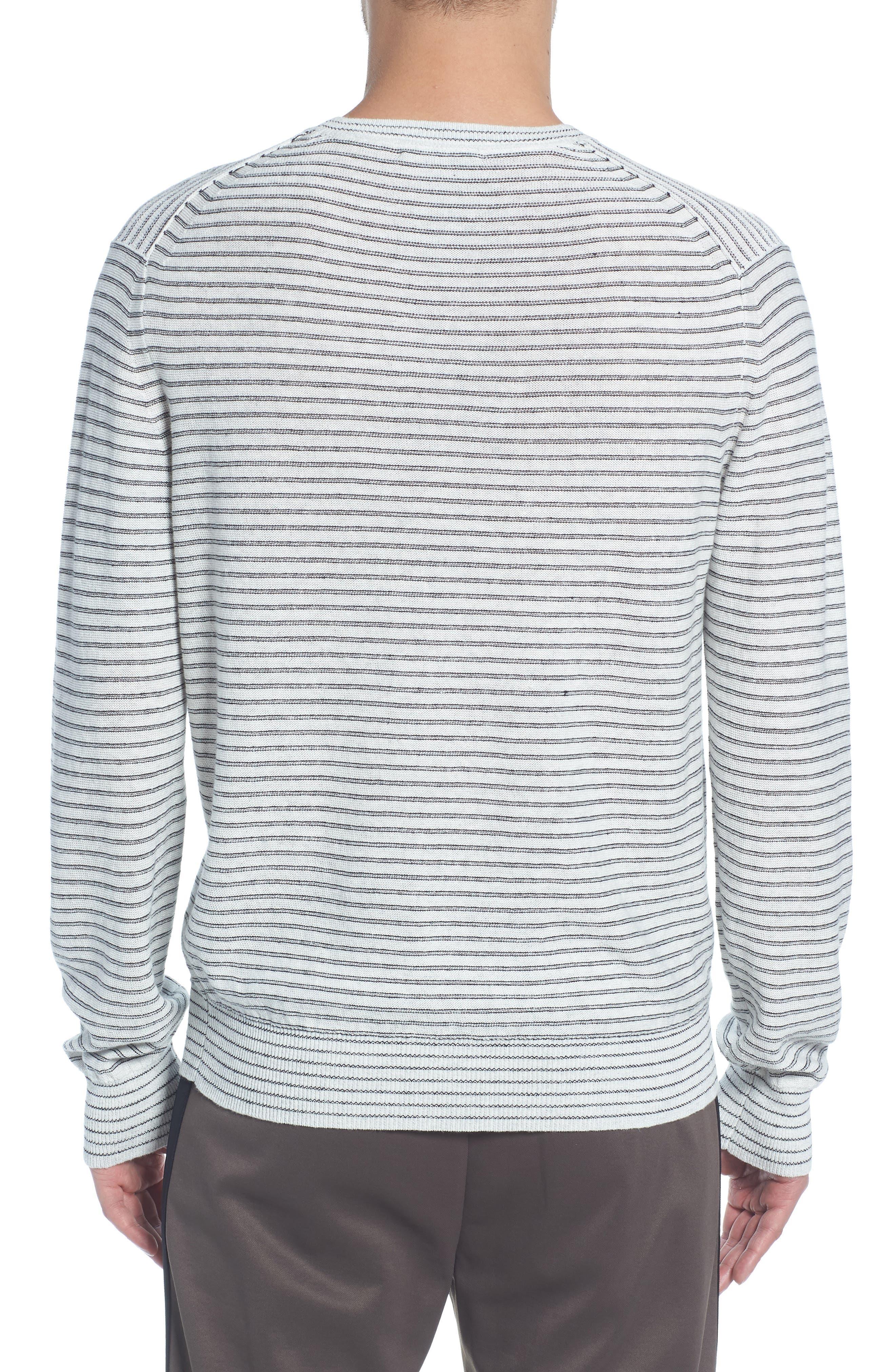 Stripe Long Sleeve Shirt,                             Alternate thumbnail 2, color,                             H WHITE/ BLACK