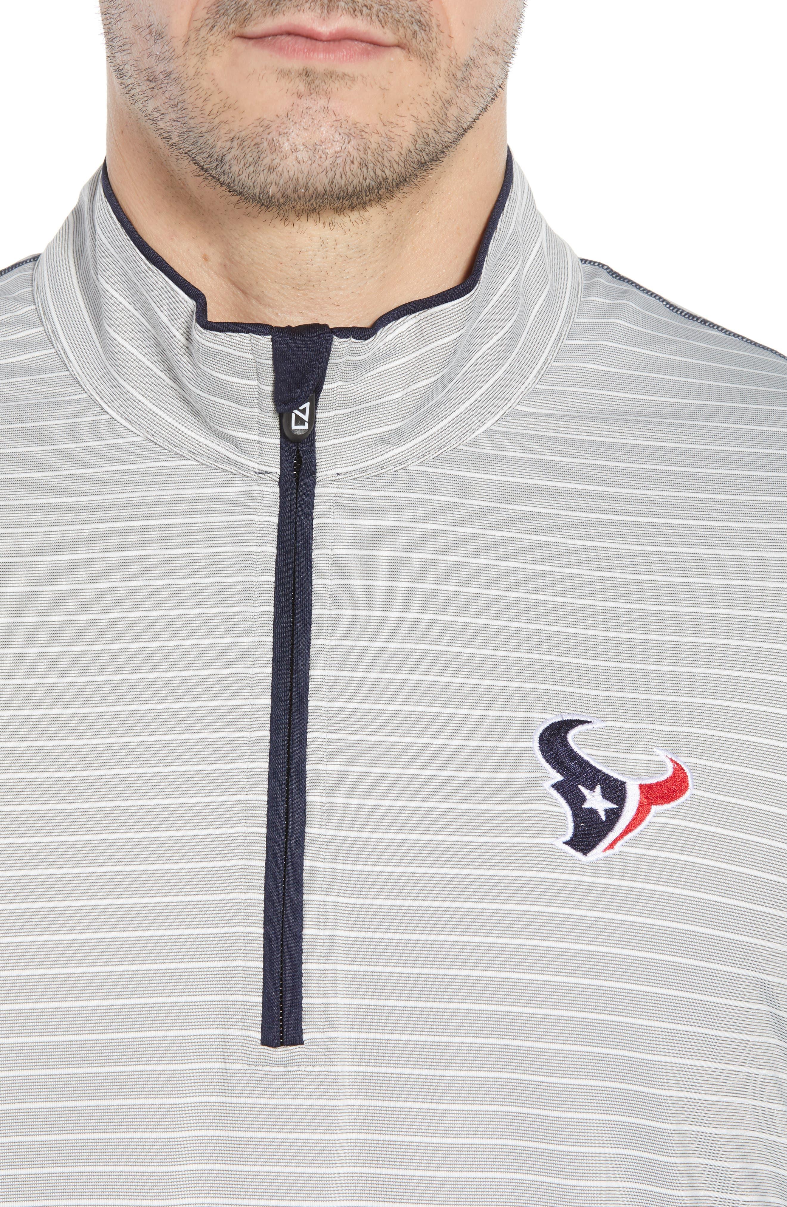 Meridian - Houston Texans Regular Fit Half Zip Pullover,                             Alternate thumbnail 4, color,                             NAVY