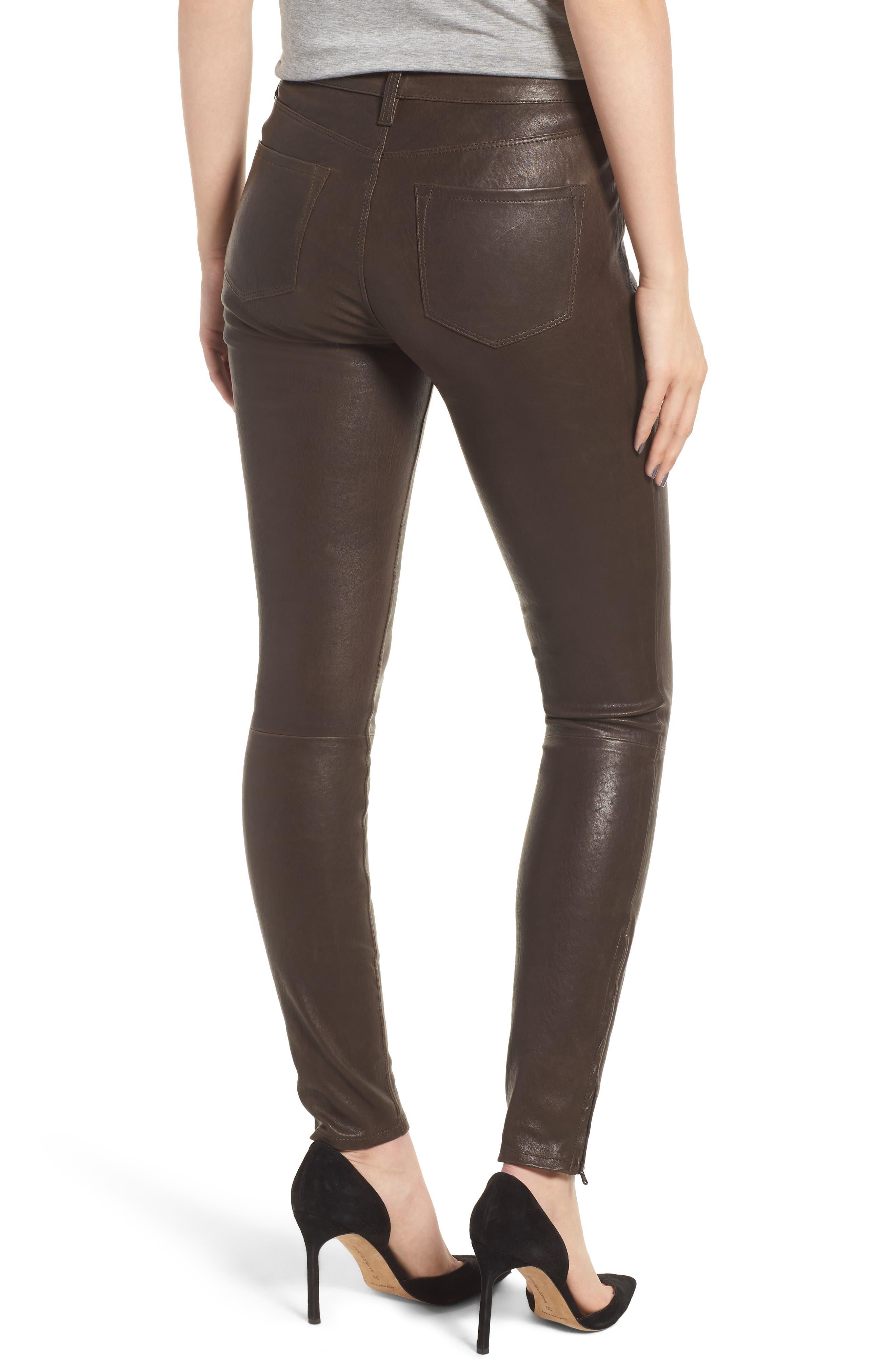'8001' Lambskin Leather Pants,                             Alternate thumbnail 24, color,
