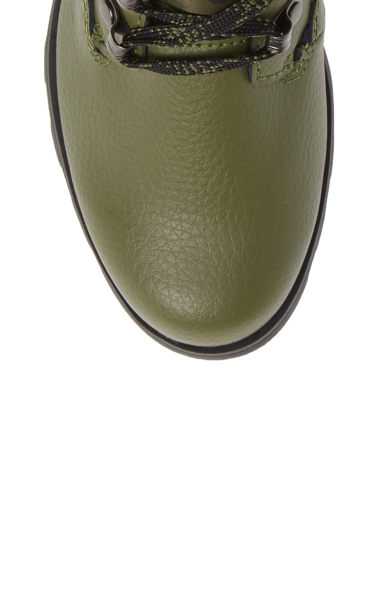 Emelie Waterproof Boot,                             Alternate thumbnail 5, color,                             HIKER GREEN/ BLACK