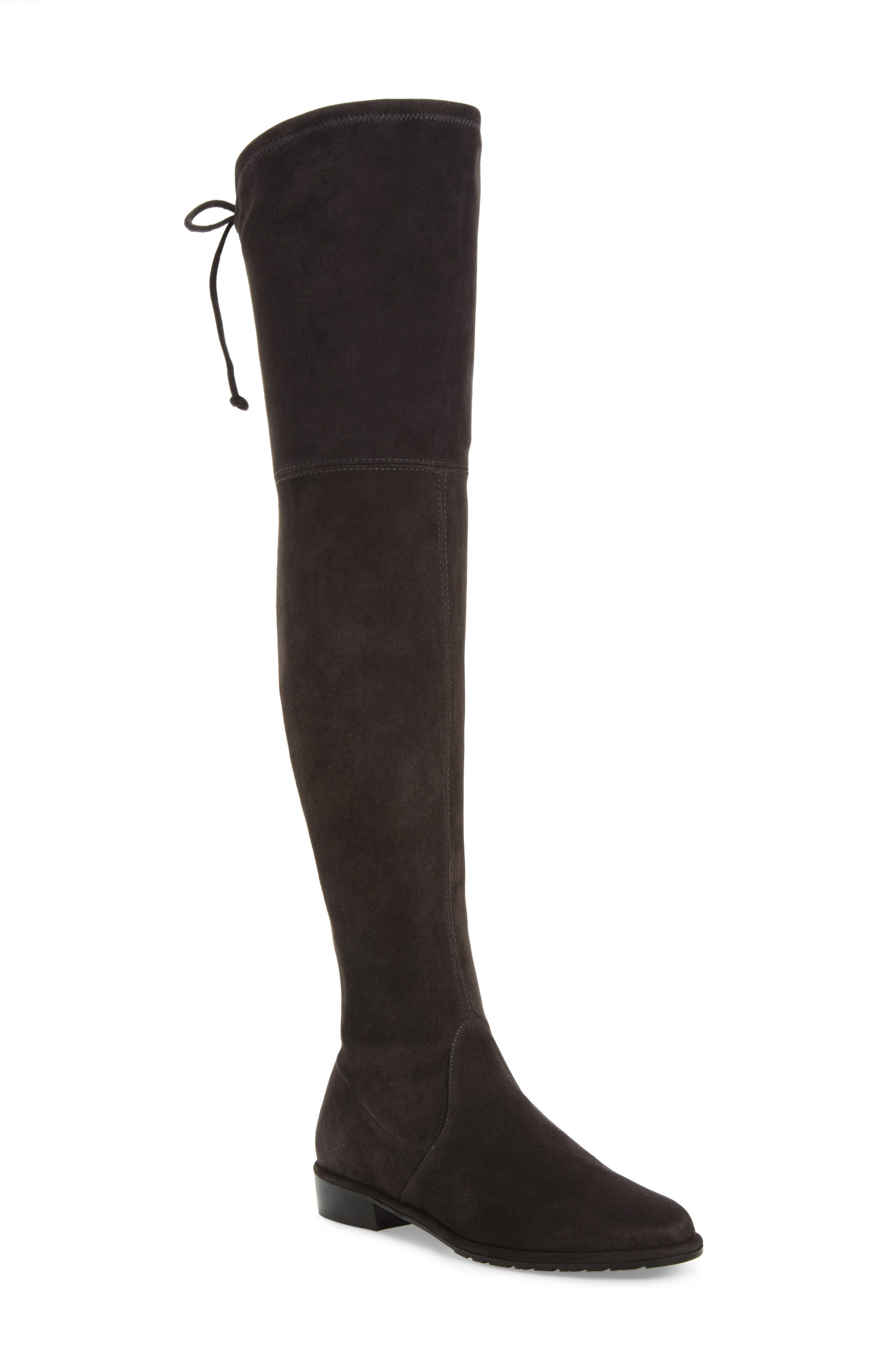 'Lowland' Over the Knee Boot,                             Main thumbnail 1, color,                             ASPHALT SUEDE