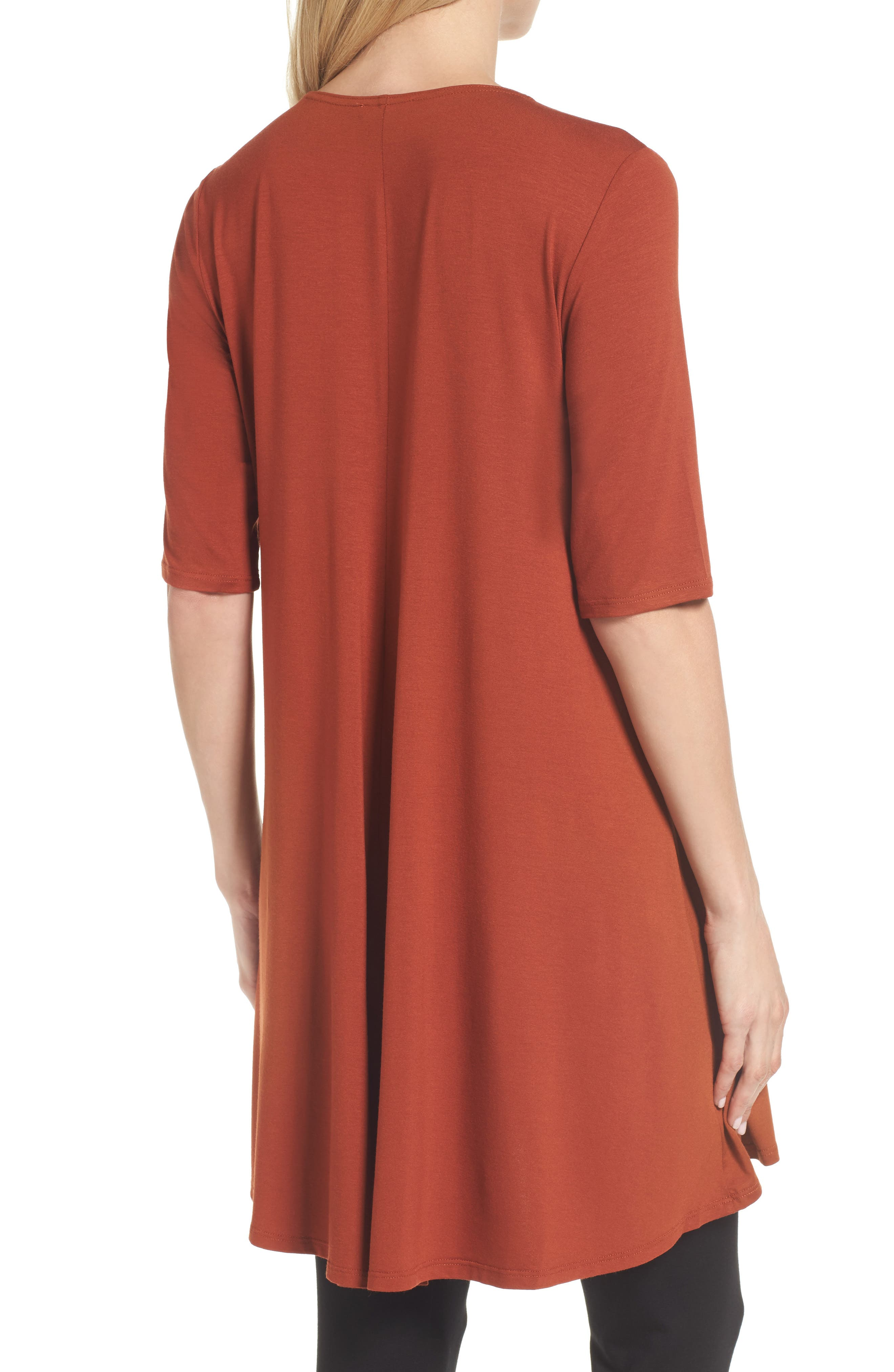 Lightweight Jersey Round Neck Tunic,                             Alternate thumbnail 11, color,