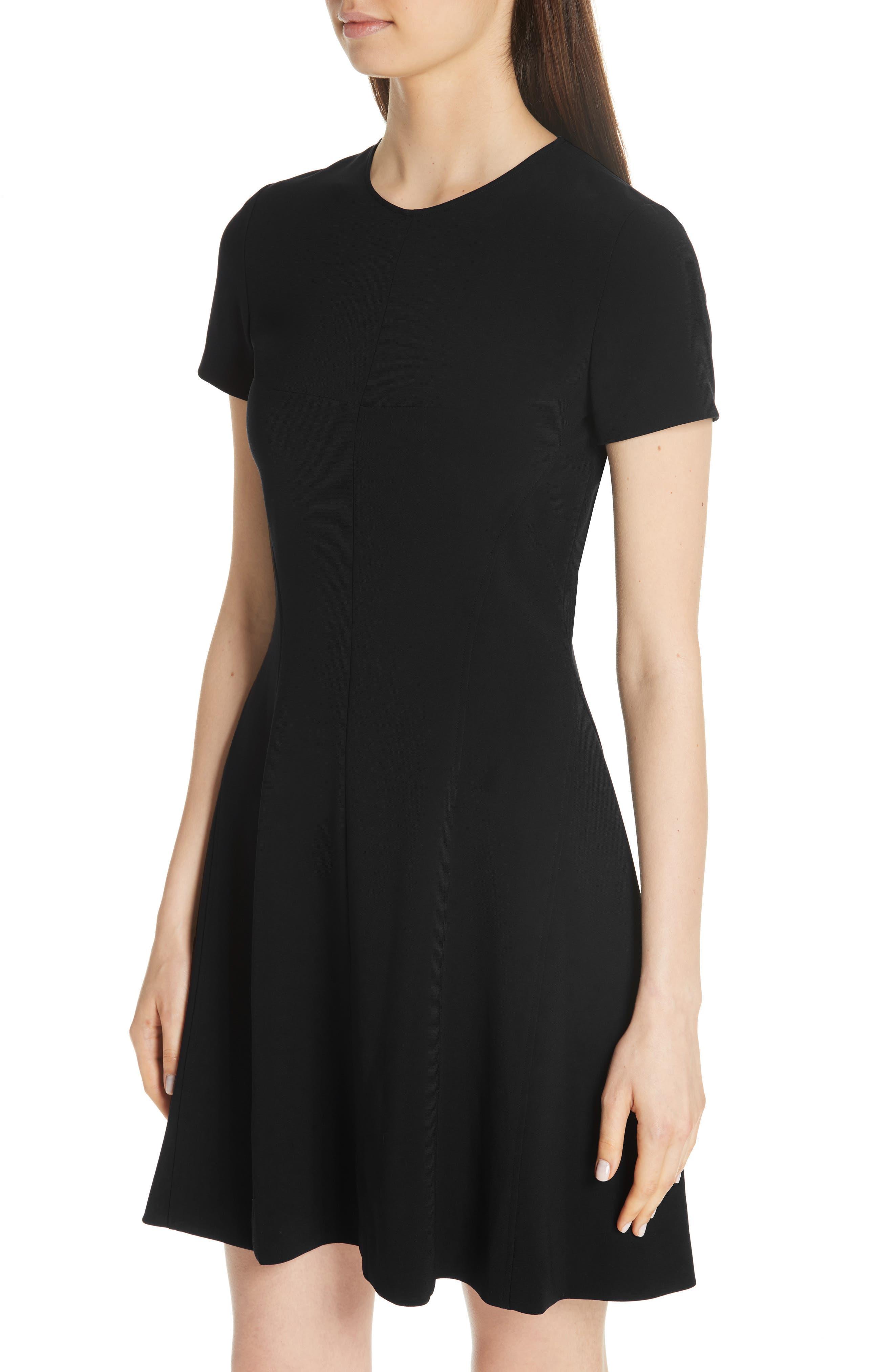 Modern Seamed Dress,                             Alternate thumbnail 4, color,                             001