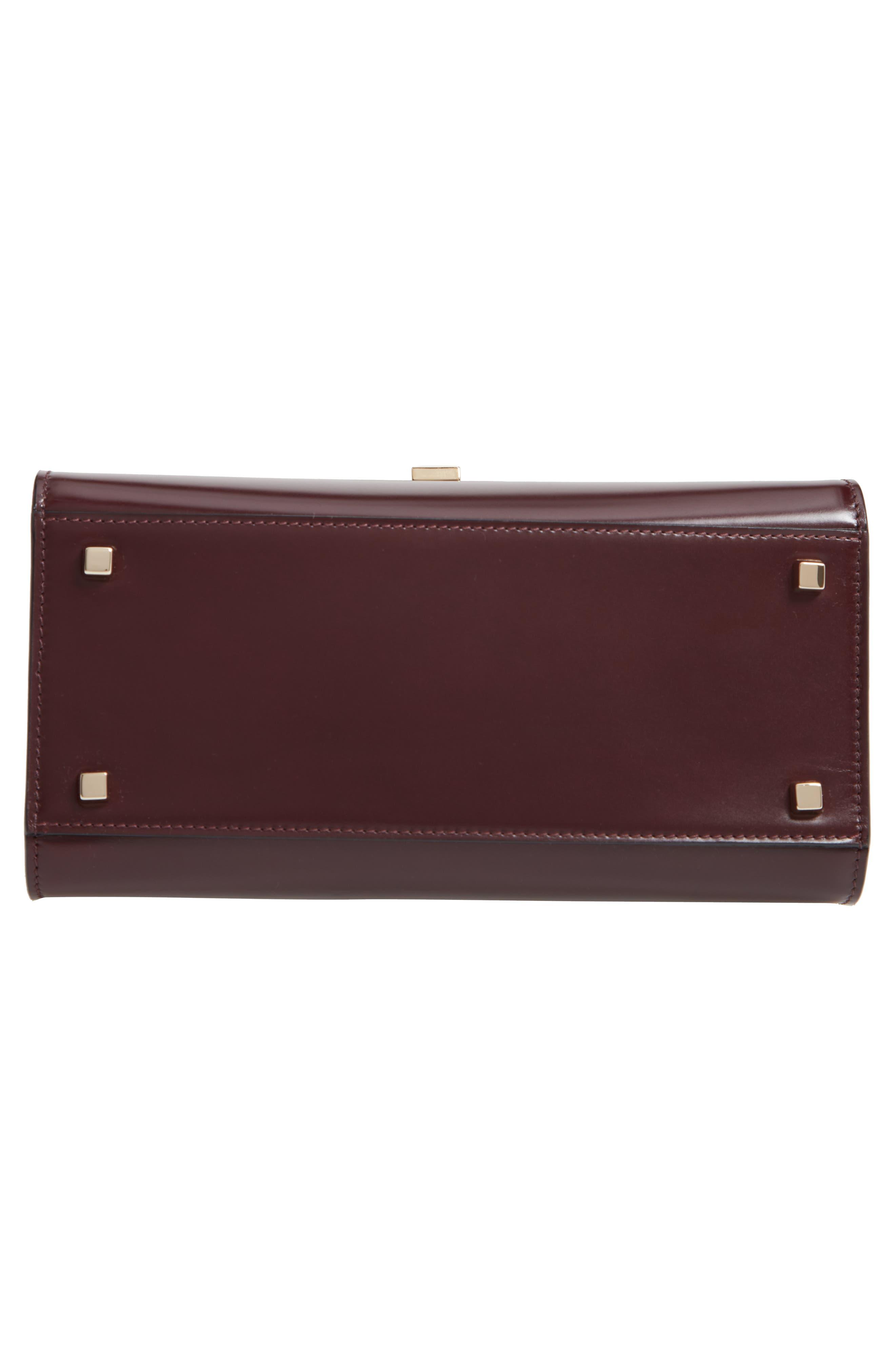 Iside Medium Colorblock Leather Top Handle Bag,                             Alternate thumbnail 6, color,                             FRAGOLA/ GRANATA