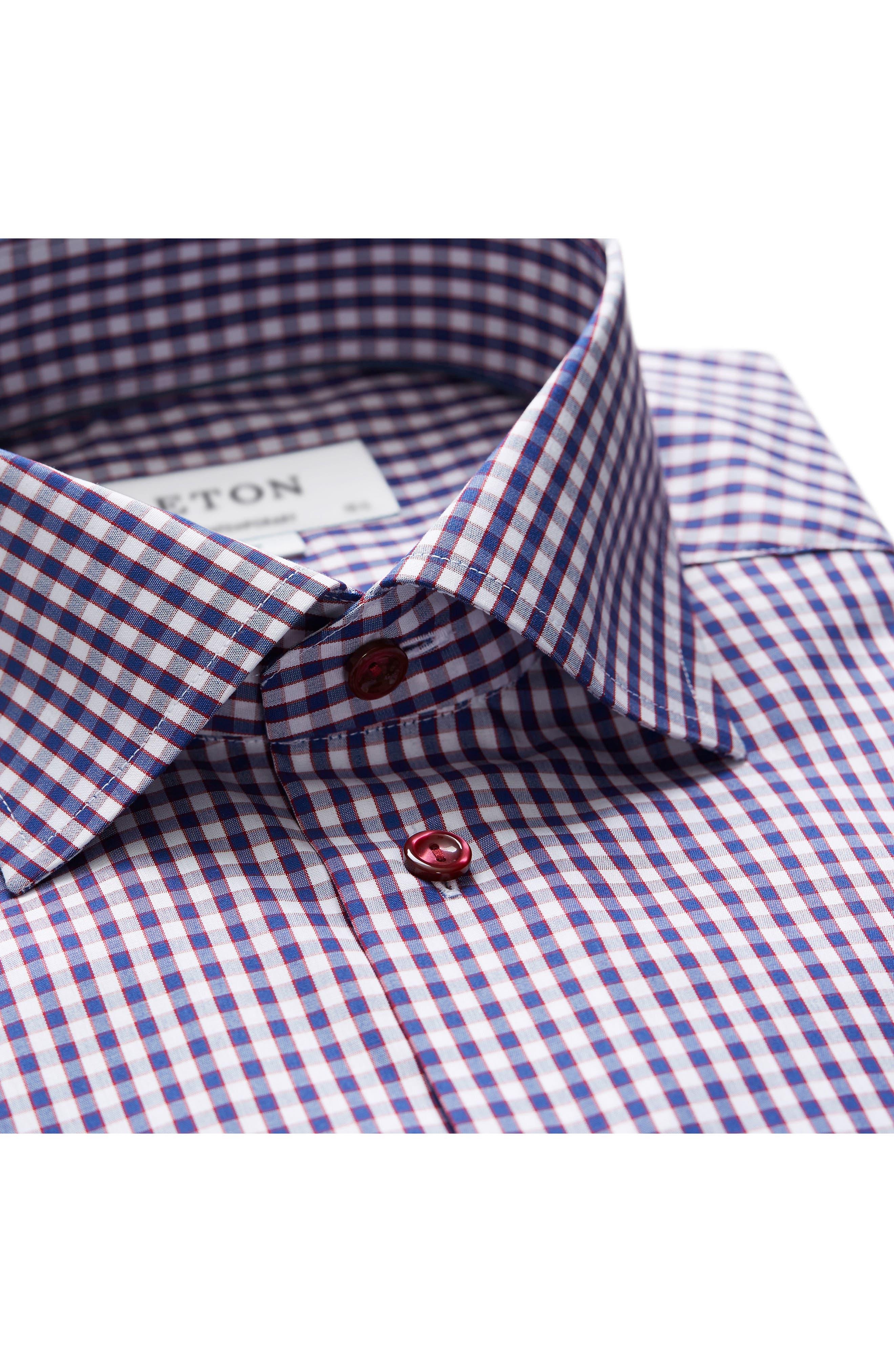 Contemporary Fit Check Dress Shirt,                             Alternate thumbnail 2, color,