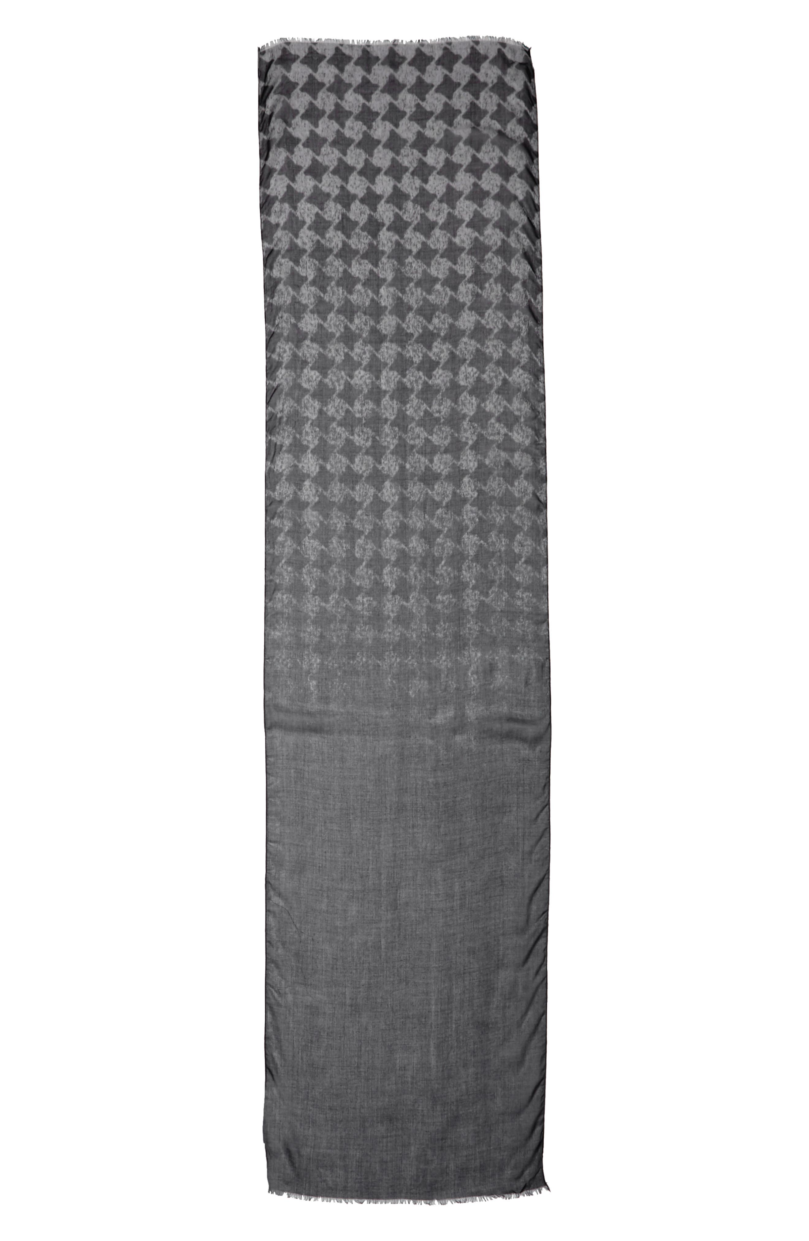 JOHN VARVATOS,                             Houndstooth Scarf,                             Alternate thumbnail 2, color,                             024